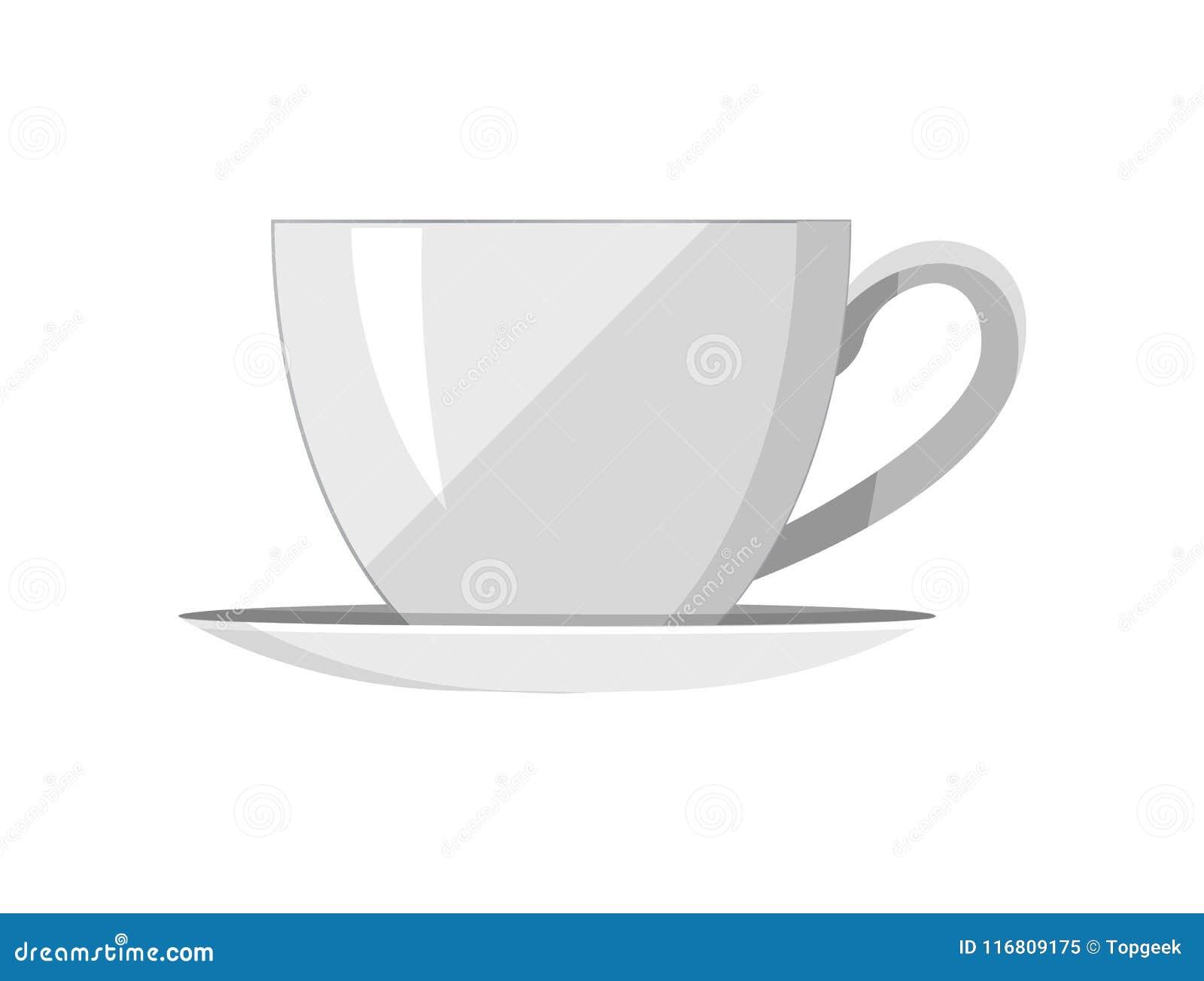 Modello grazioso dell illustrazione di vettore della Tè-tazza