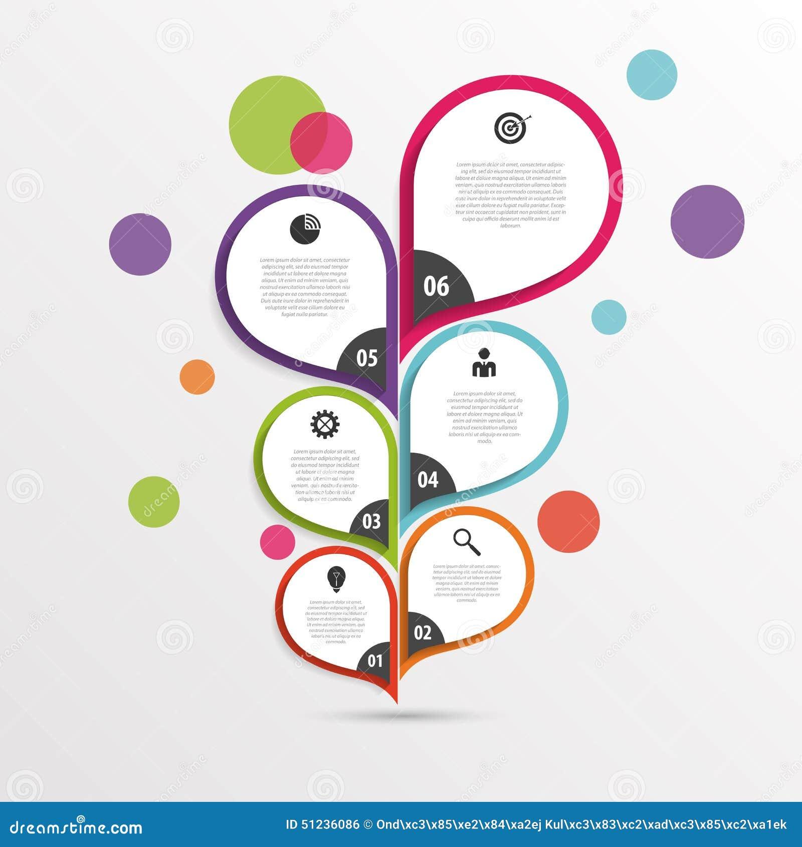 Modello infographic astratto del fiore colorful Vettore