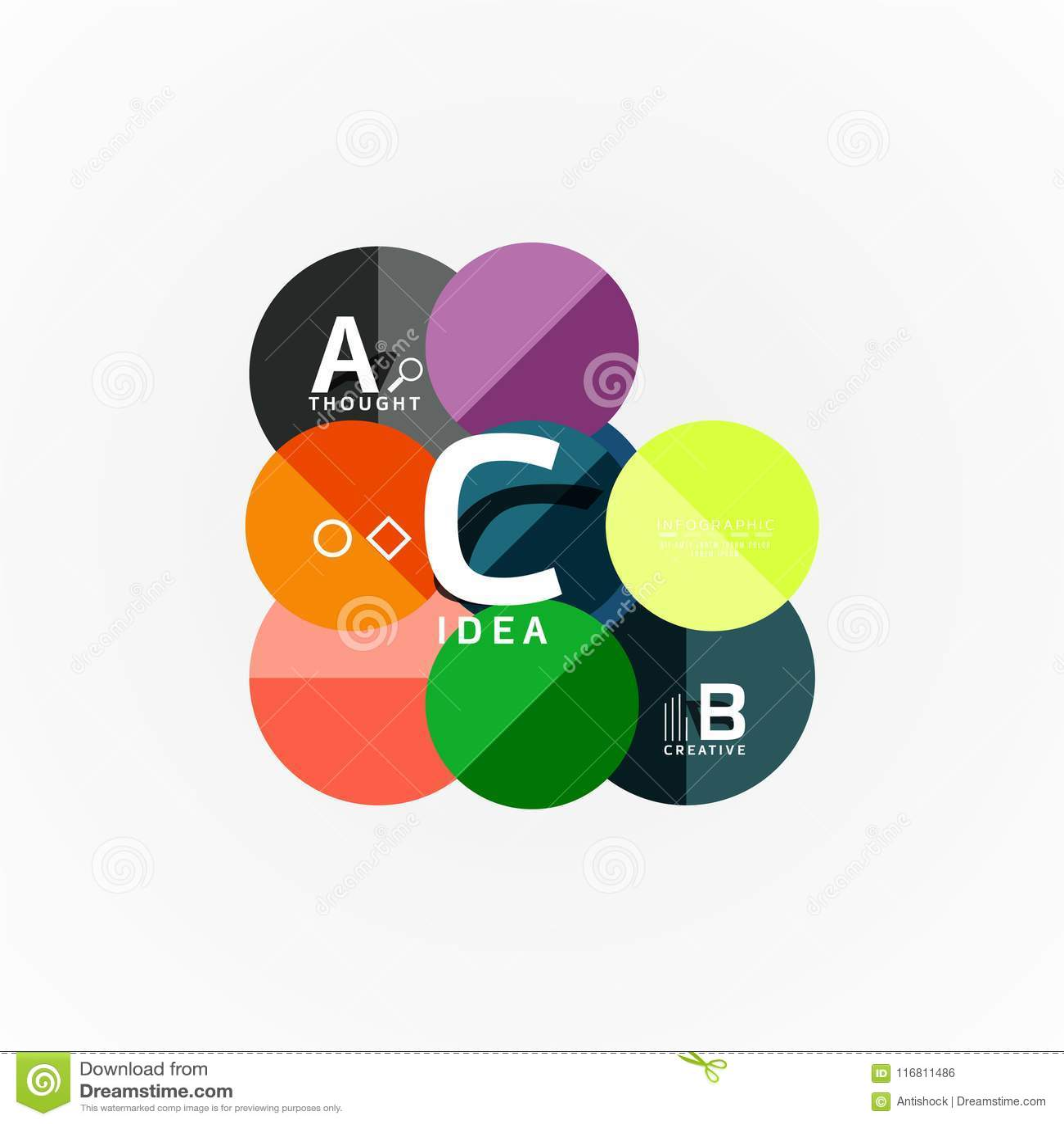 Modello infographic di carta dell insegna con le opzioni di b una c, elementi di infographics