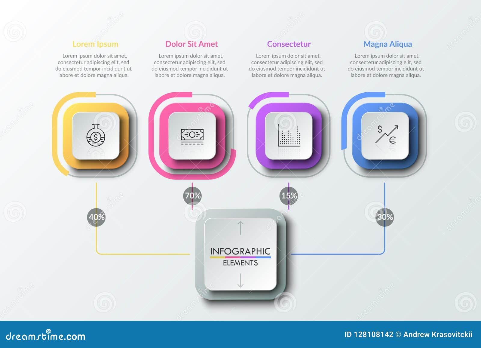 Modello infographic moderno di progettazione