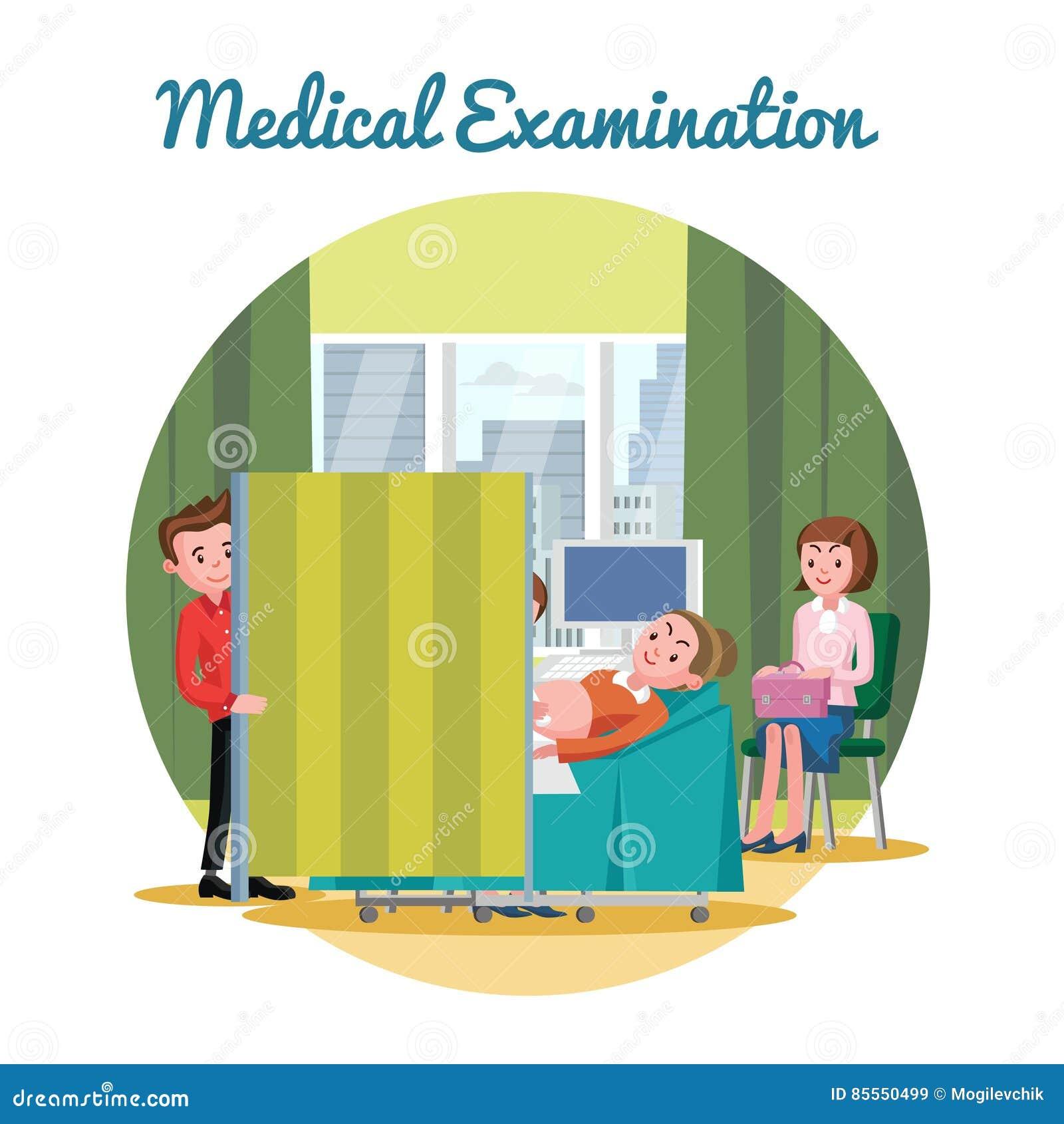 Modello medico di procedura diagnostica di ultrasuono