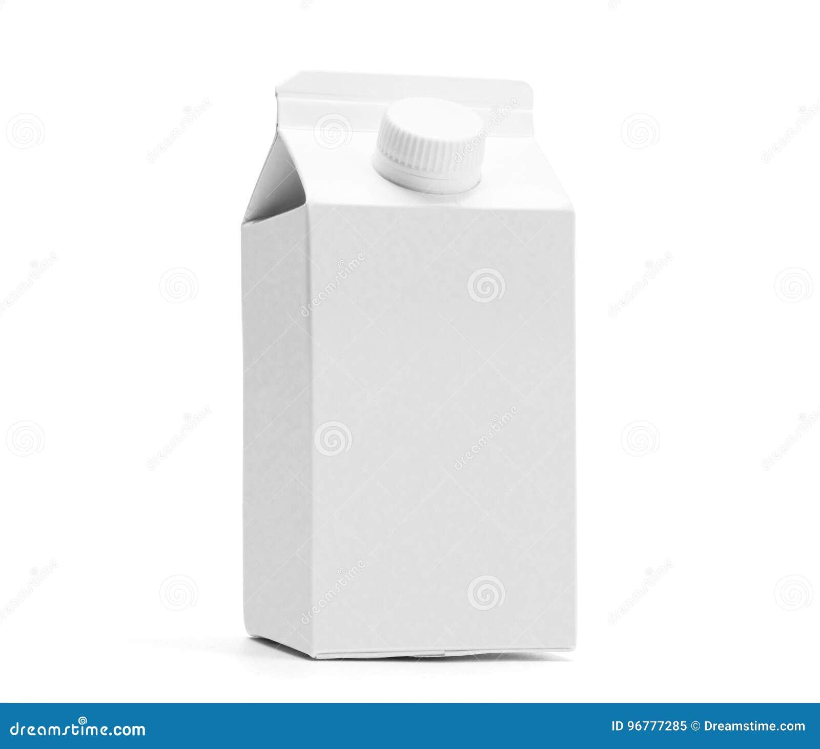 Modello mezzo bianco del contenitore di latte di litro