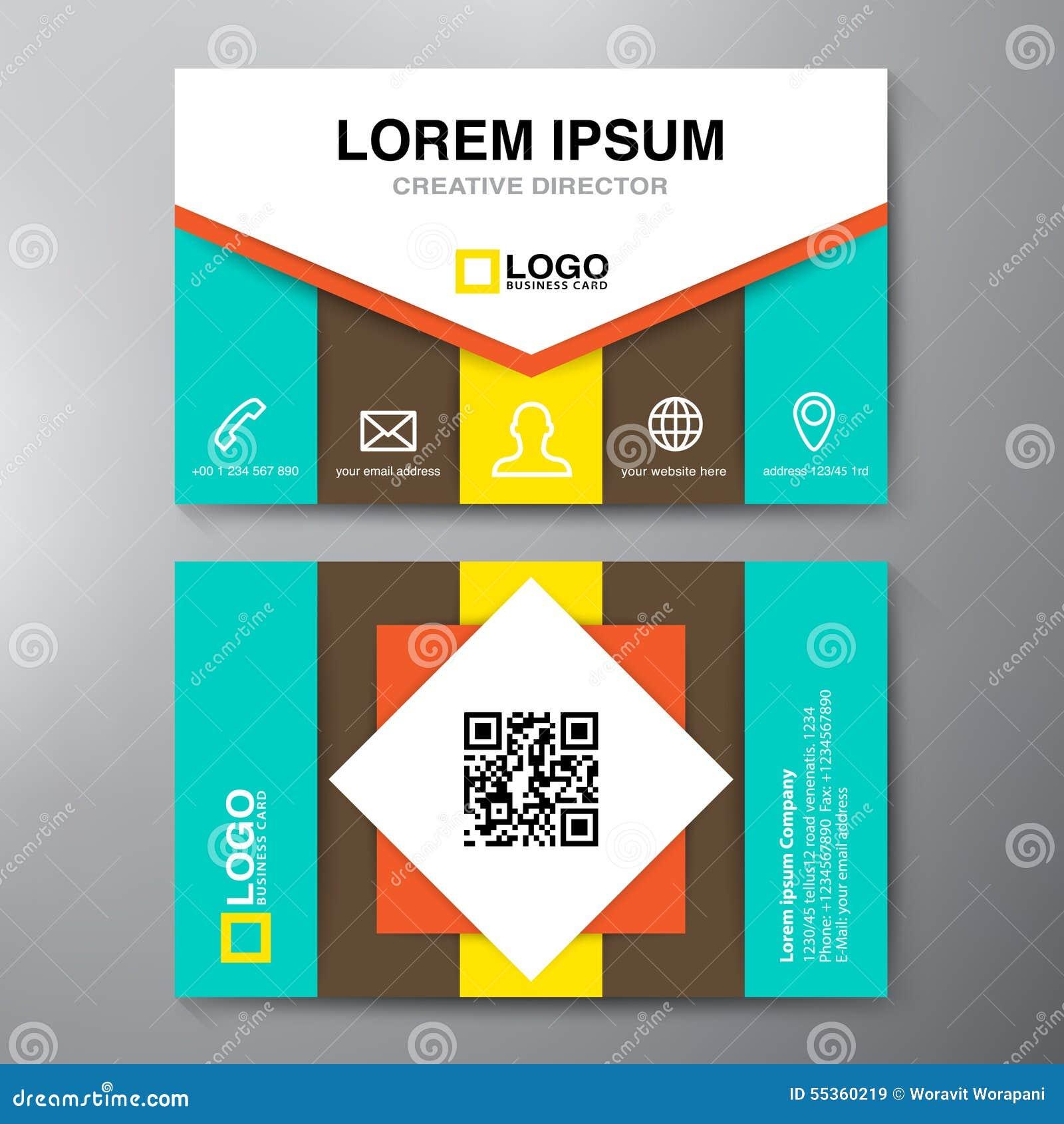 Modello moderno di progettazione di biglietto da visita