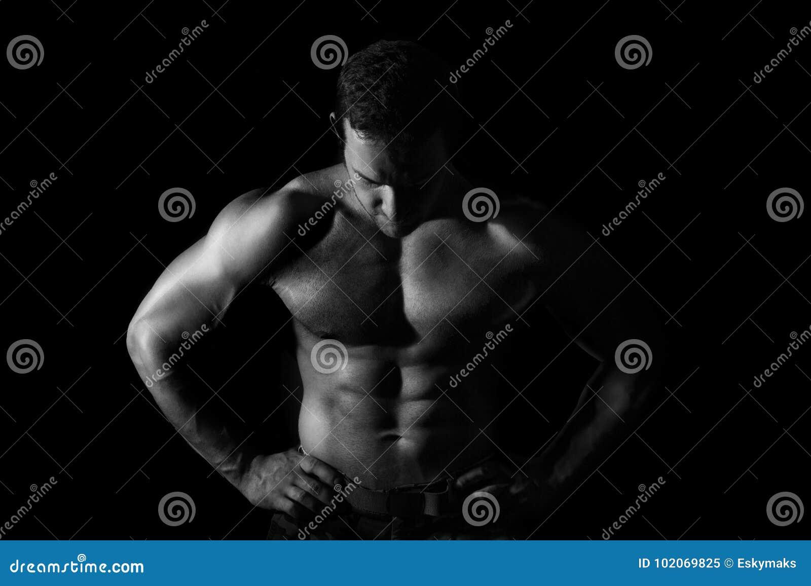 Modello muscolare sexy