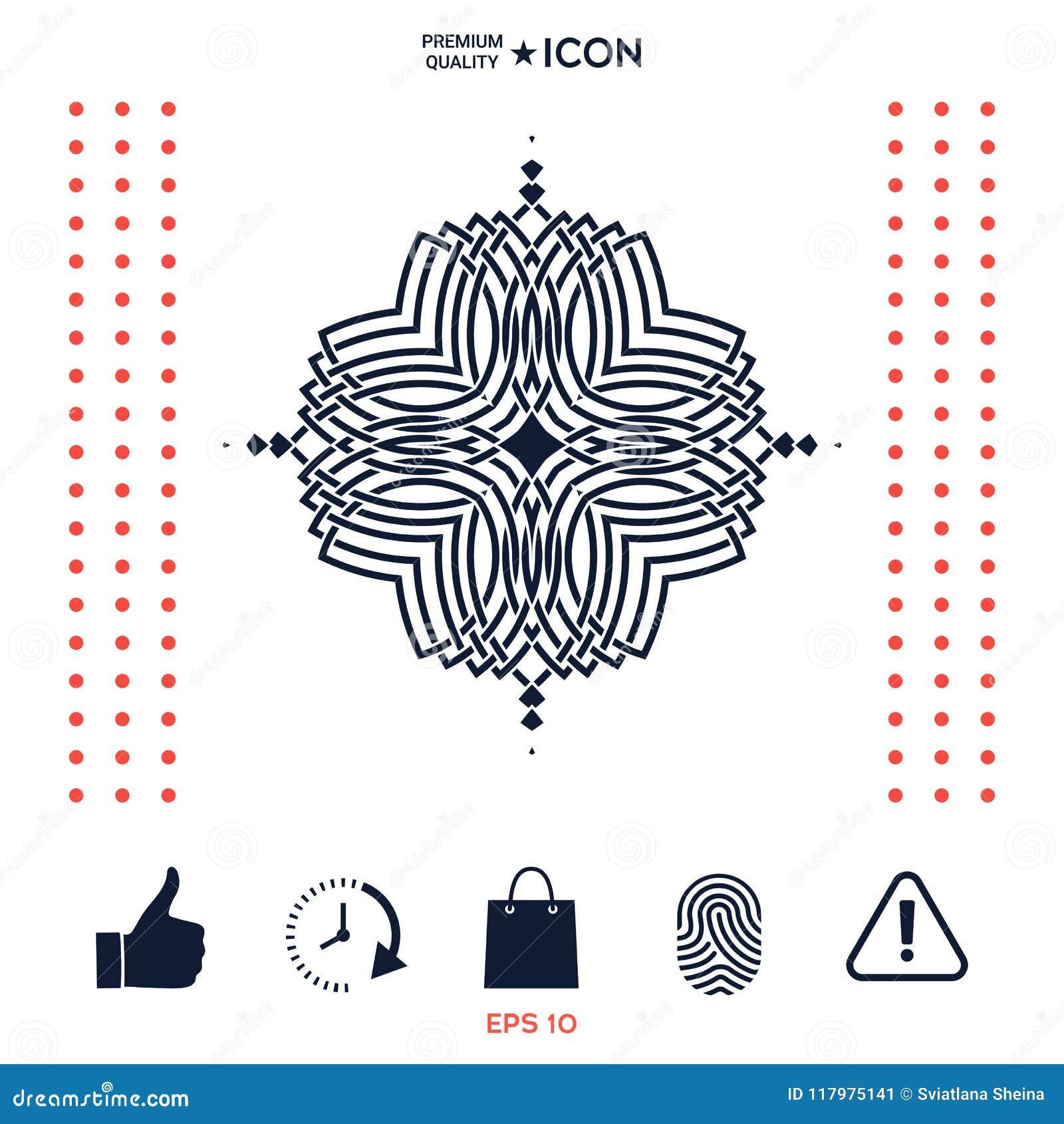 Download Modello Orientale Geometrico Logo Per La Vostra Progettazione Immagine Stock - Immagine di golfo, artistico: 117975141