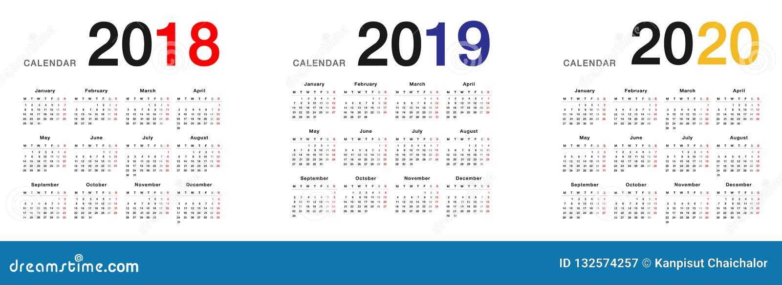 Calendario 2020 Orizzontale.Modello Orizzontale Di Progettazione Di Vettore Del