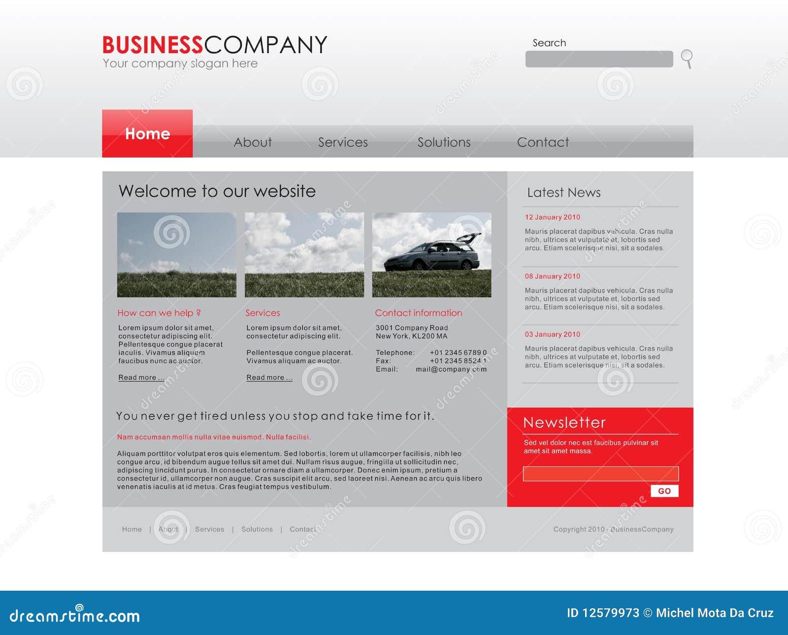 Modello professionale di Web site