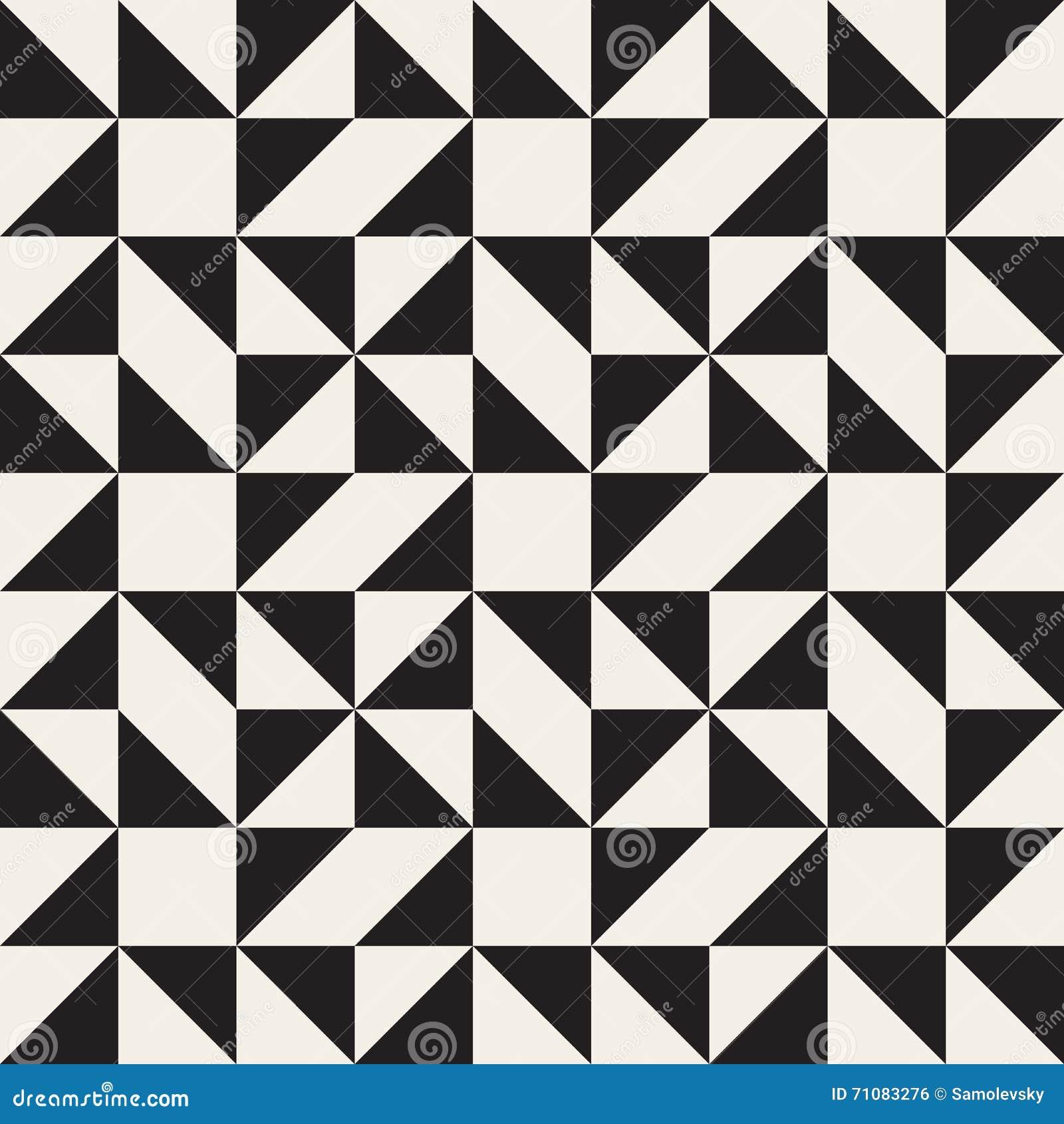 Modello quadrato geometrico in bianco e nero senza cuciture di ...