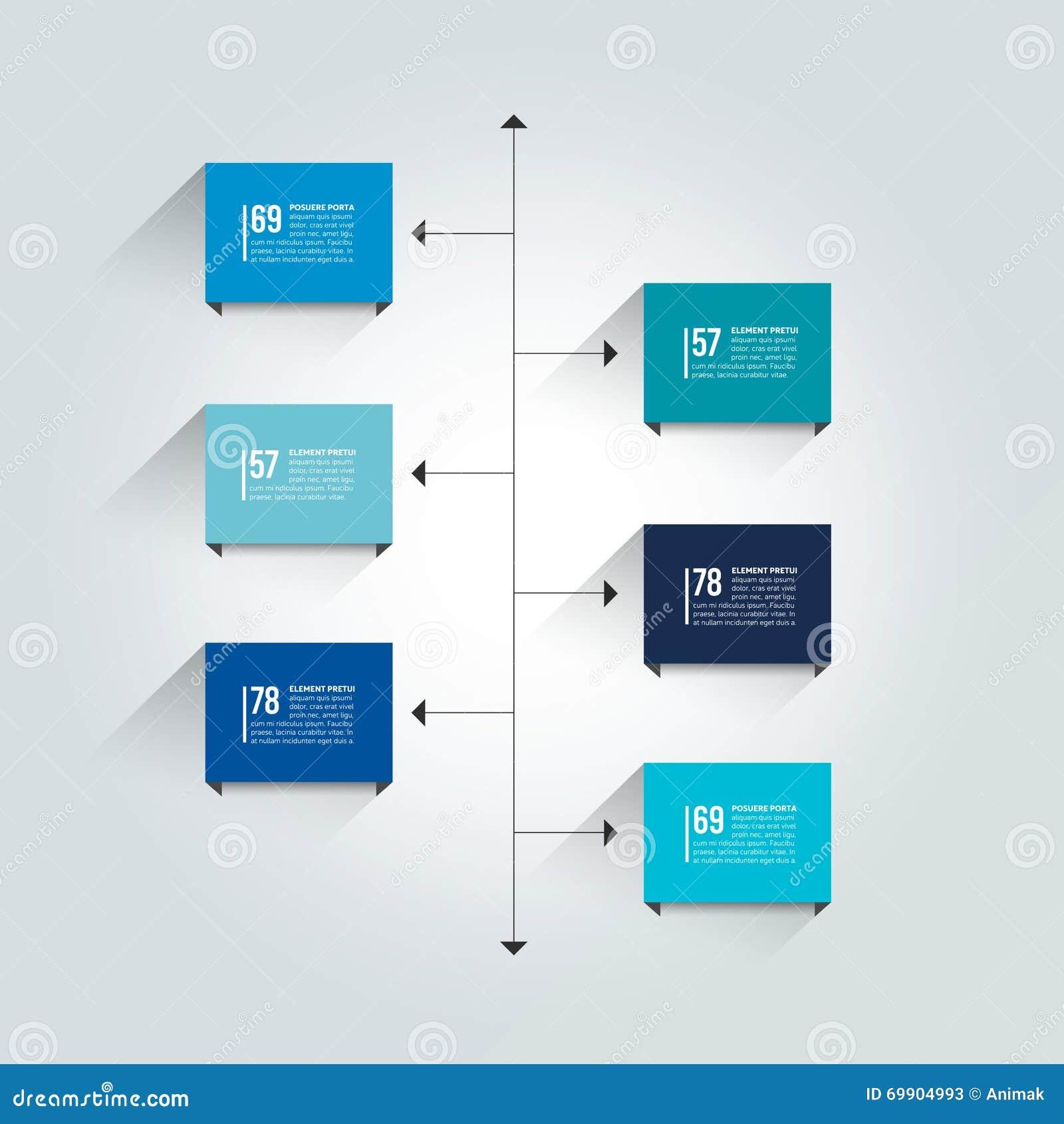 Modello rapporto di cronologia Schema dell ombra di colore, diagramma