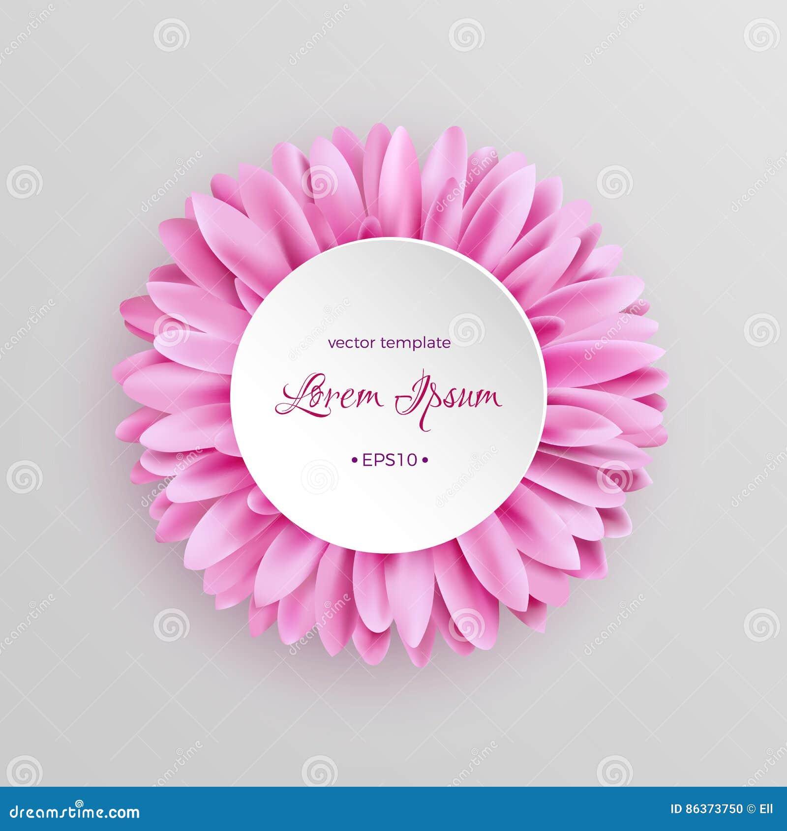 Modello rosa elegante del fiore della gerbera - Modello di base del fiore ...