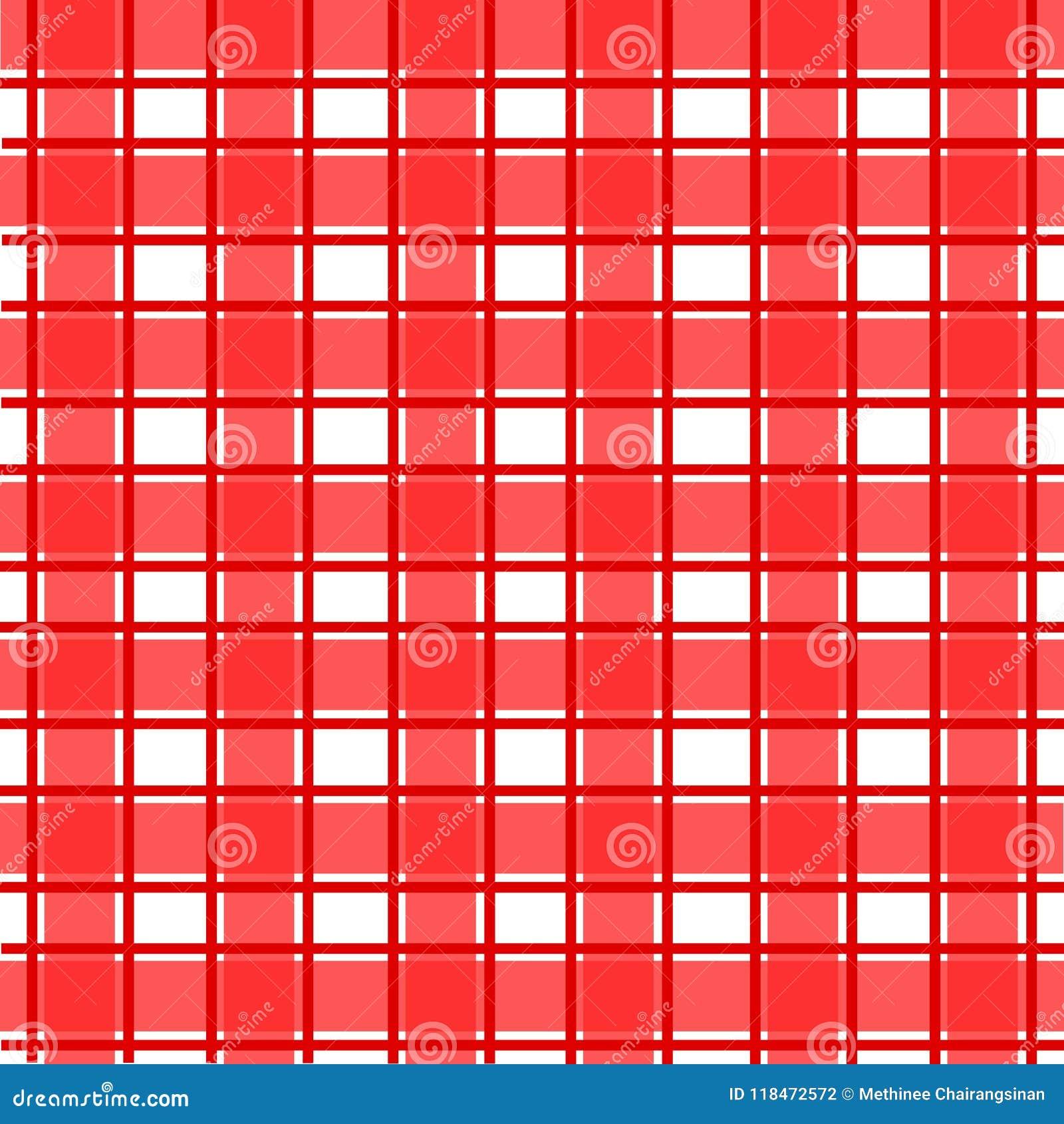 Modello Scozzese Rosso Illustrazione Vettoriale Illustrazione Di