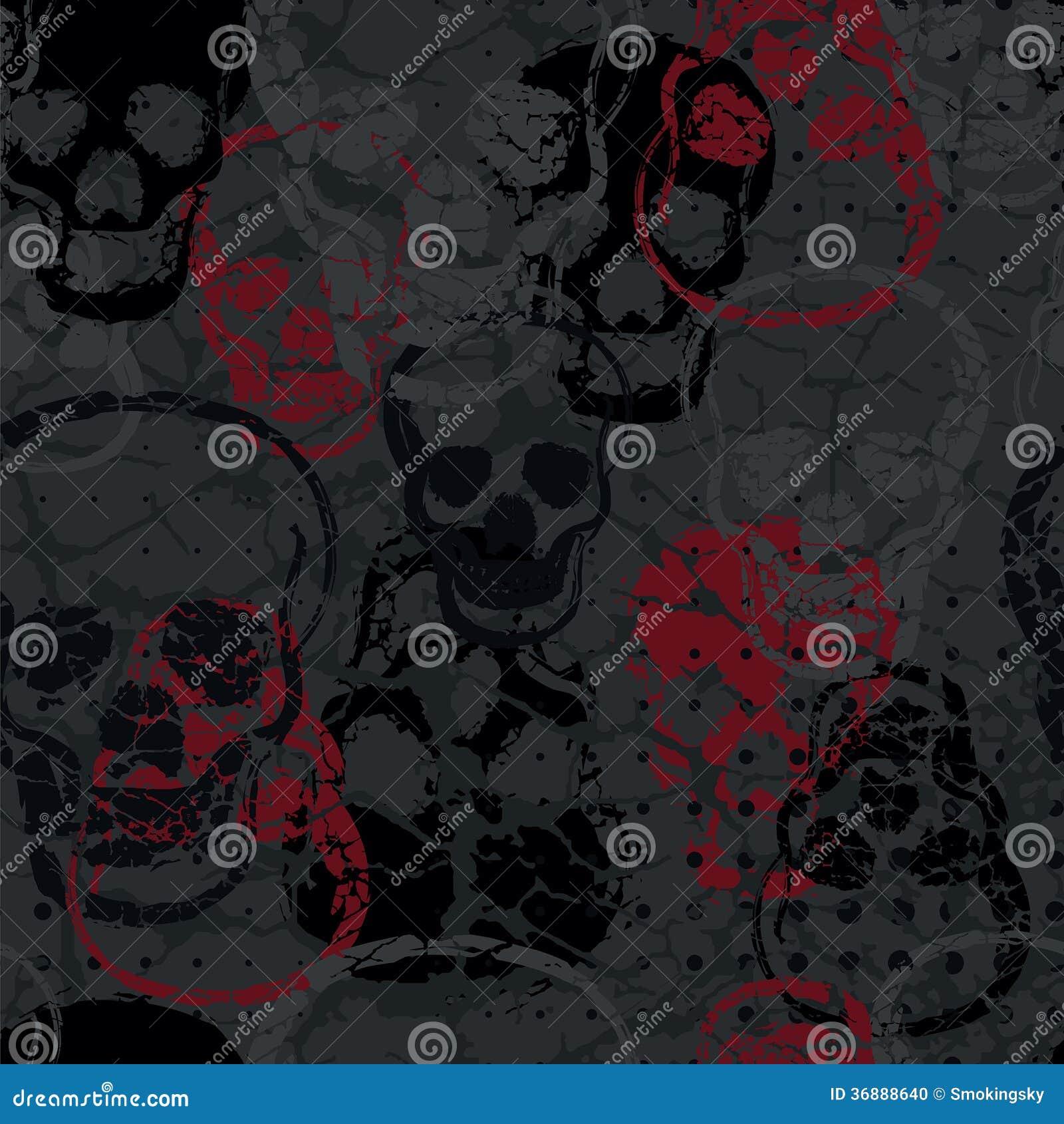 Download Modello Senza Cuciture Colorato Del Cranio Di Orrore Illustrazione Vettoriale - Illustrazione di background, monster: 36888640