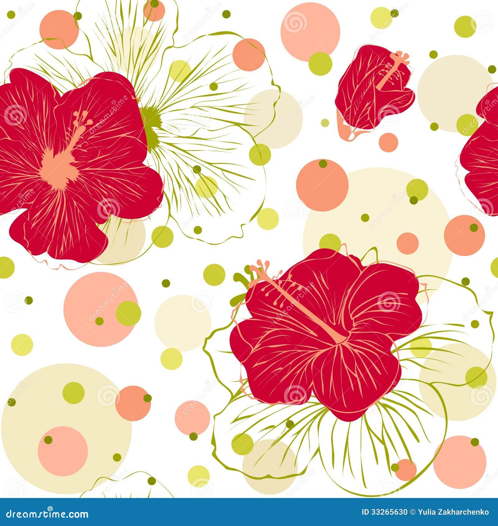 Modello senza cuciture con i fiori disegnati a mano dell for Fiori disegnati