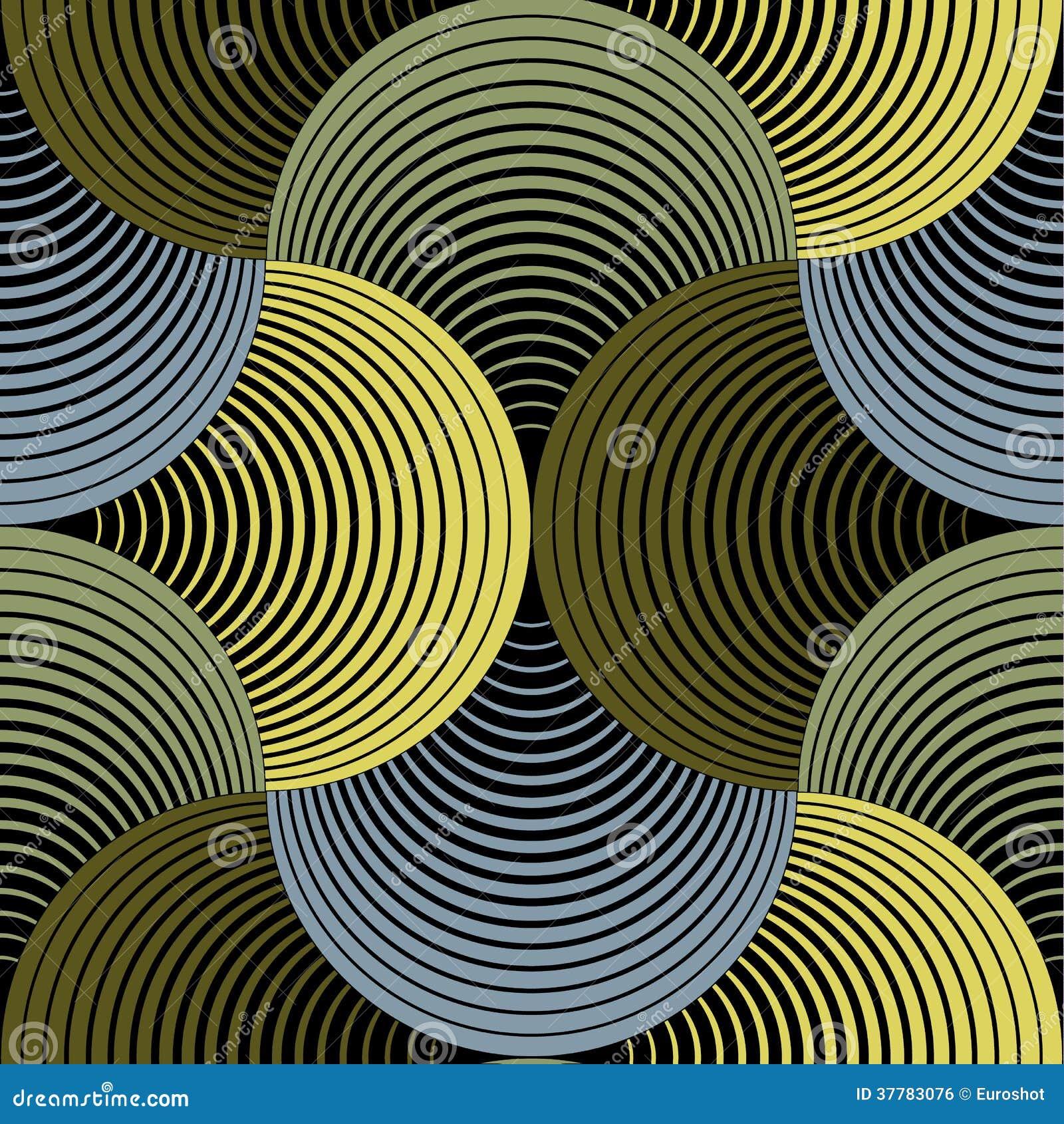 Modello senza cuciture dei petali di vettore geometrico decorato di griglia