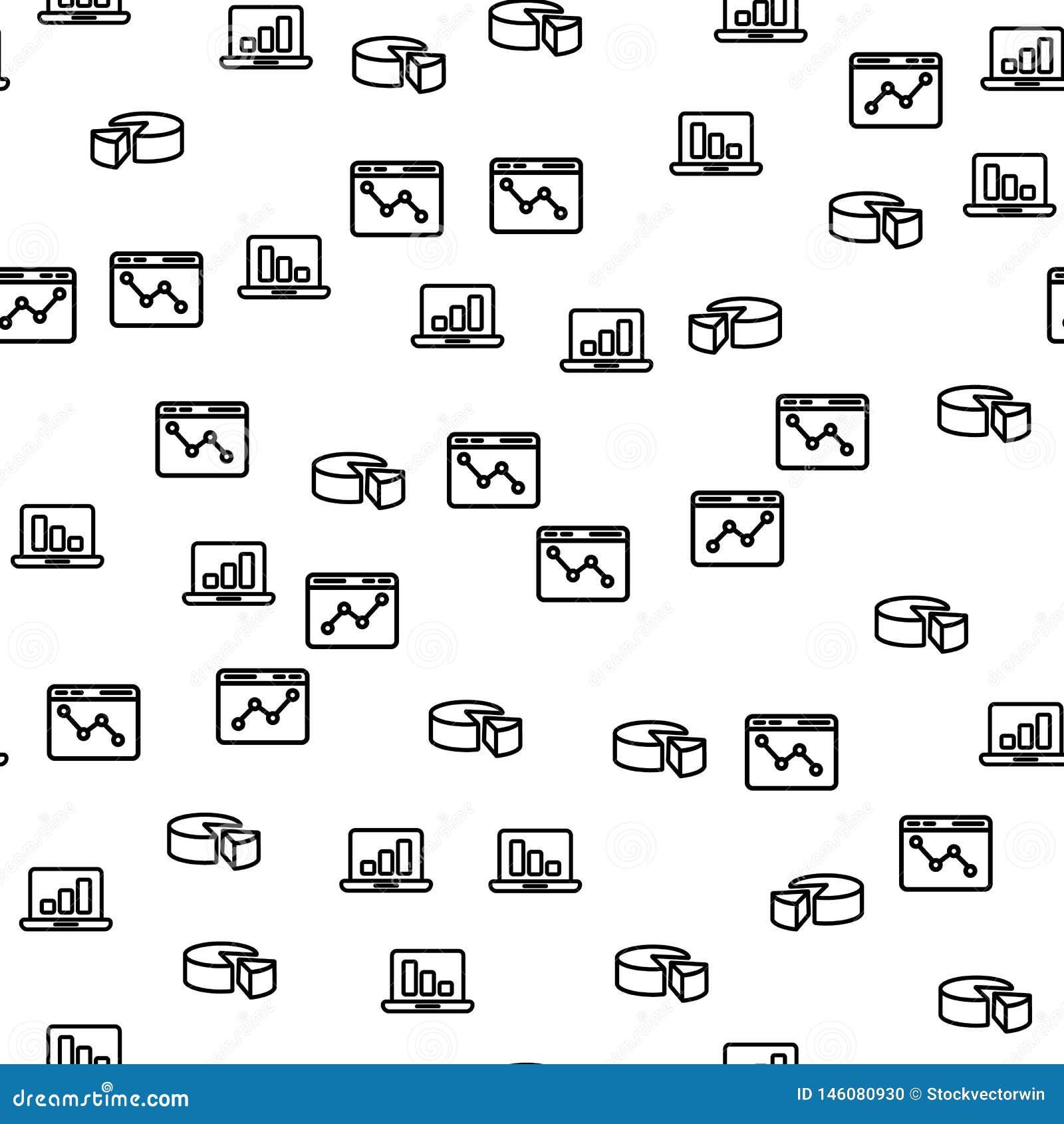 Modello senza cuciture del grafico del diagramma del computer portatile di centro dati