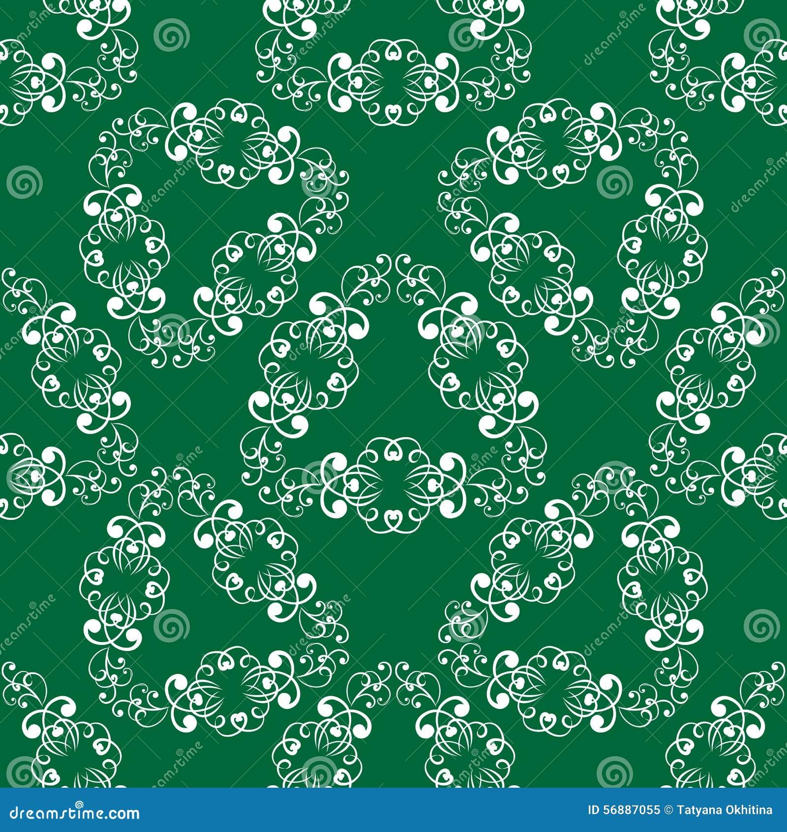Modello senza cuciture delicato verde