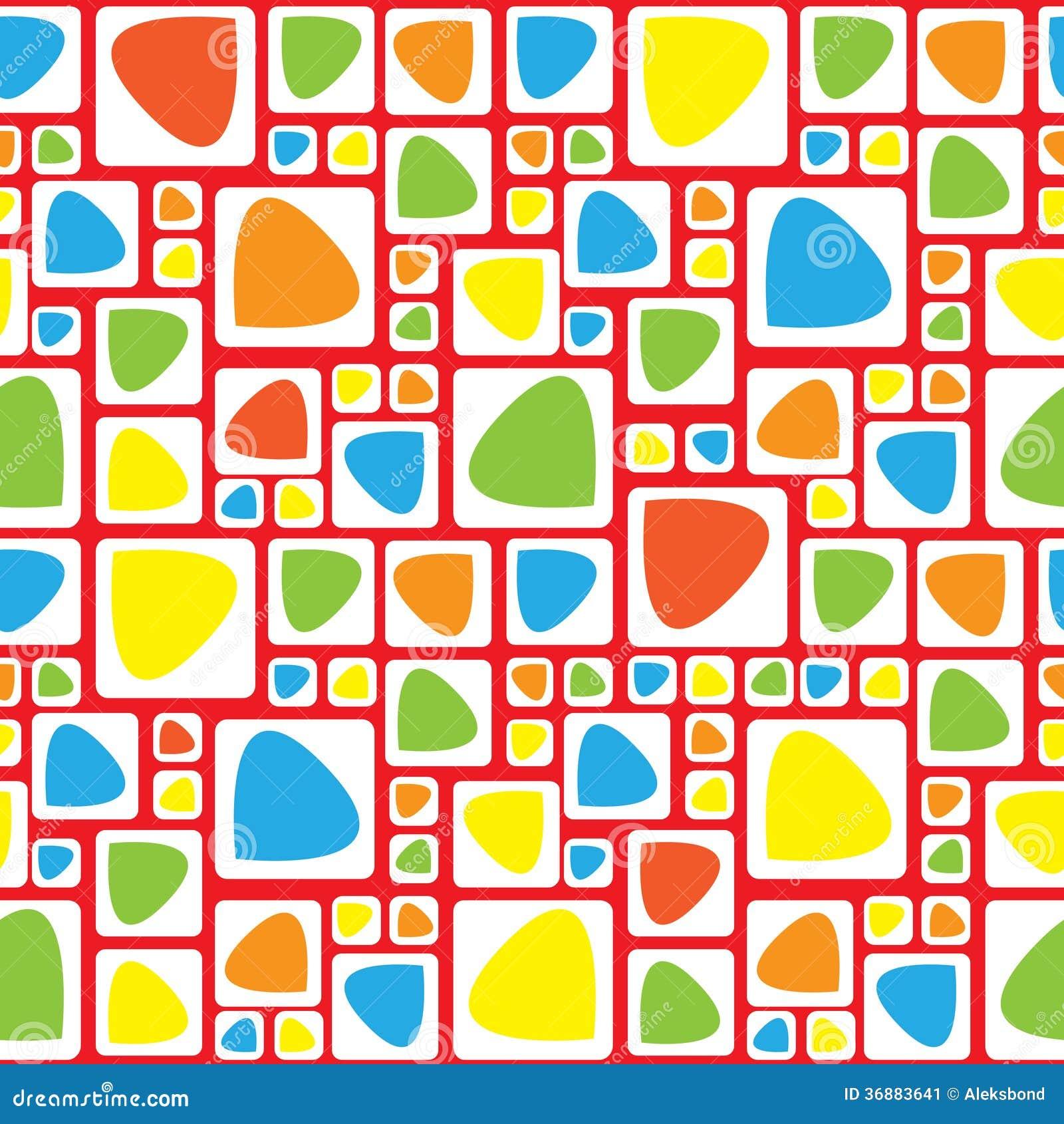 Download Modello Senza Cuciture Dell'ornamento Geometrico Multicolore Illustrazione Vettoriale - Illustrazione di rosso, struttura: 36883641