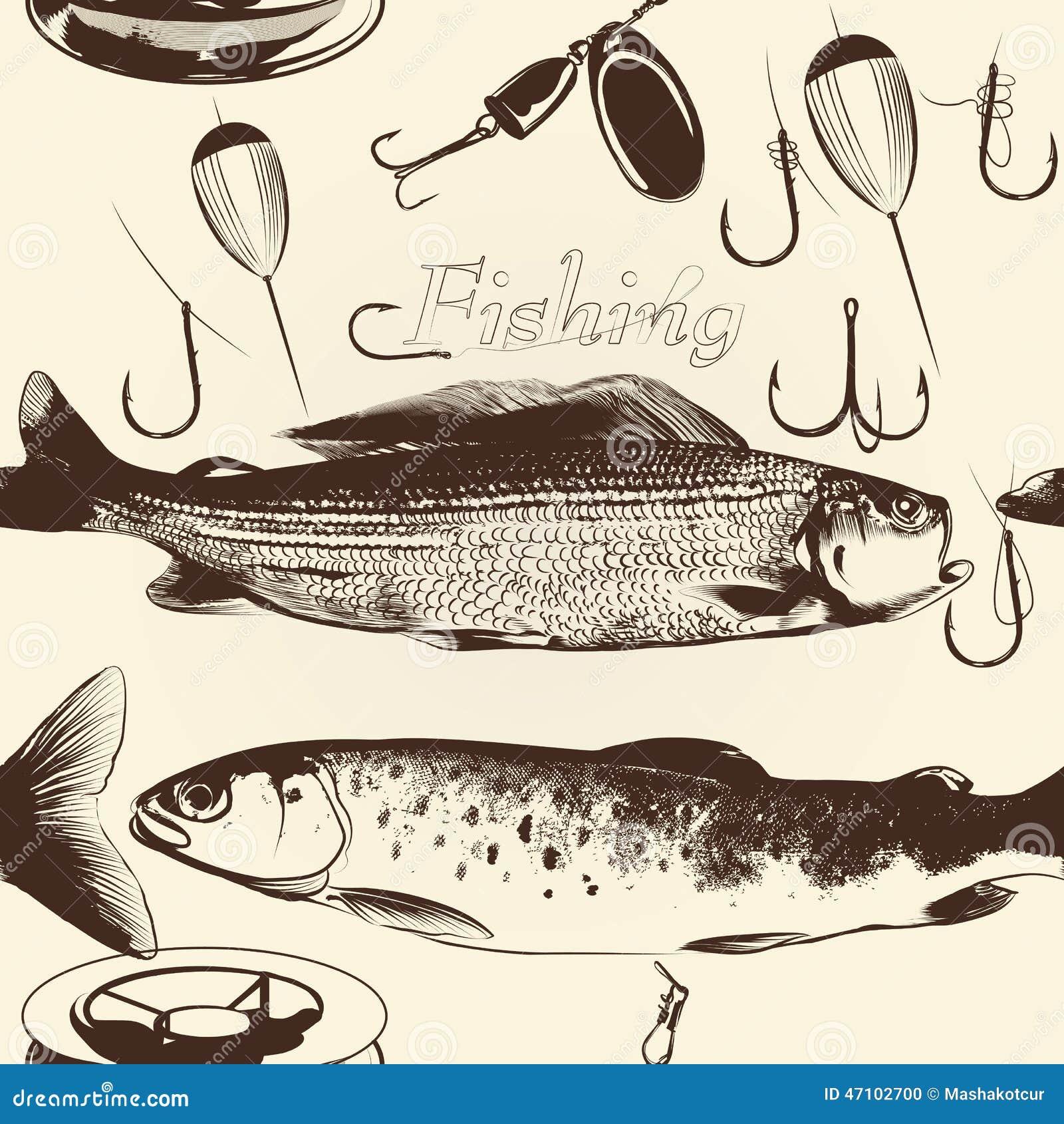 Eccezionale Modello Senza Cuciture Della Carta Da Parati Con Il Pesce  YC16