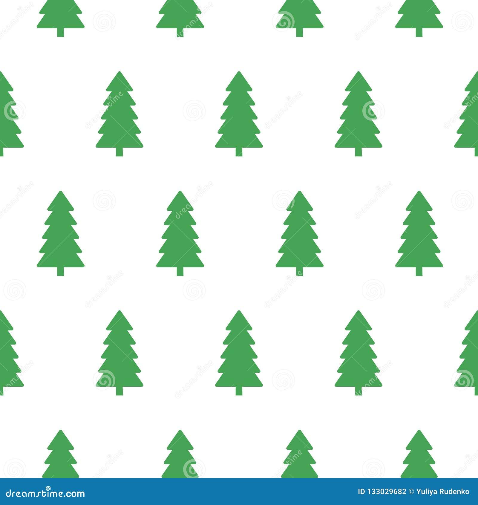 Modello senza cuciture della foresta verde nevosa dell abete di natale di vettore Buon Natale e progettazione del contesto della