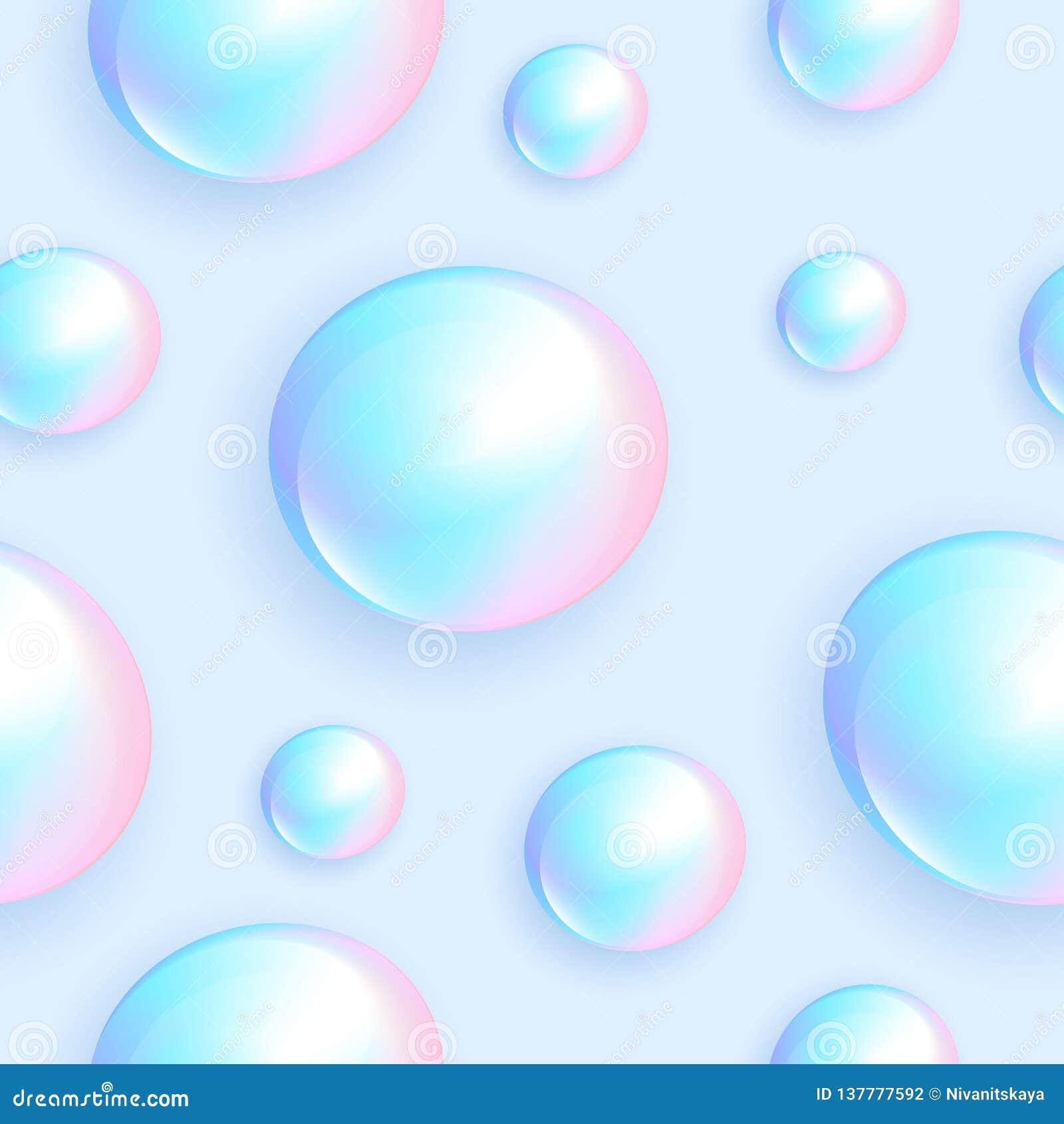 Modello senza cuciture della perla Perle della perla in un fondo leggero