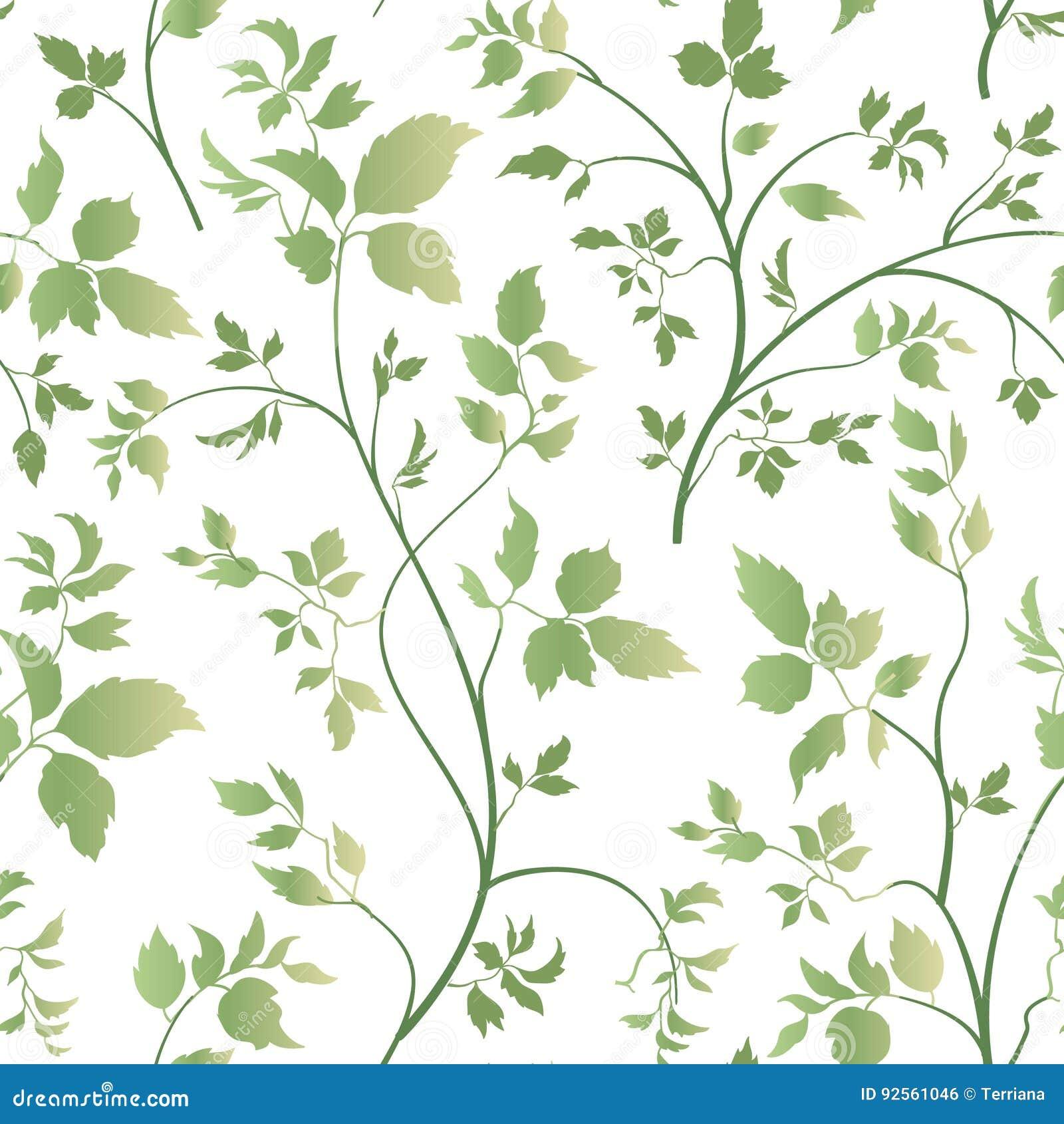 Modello senza cuciture delle foglie floreali Fondo del fiore del giardino Sprin