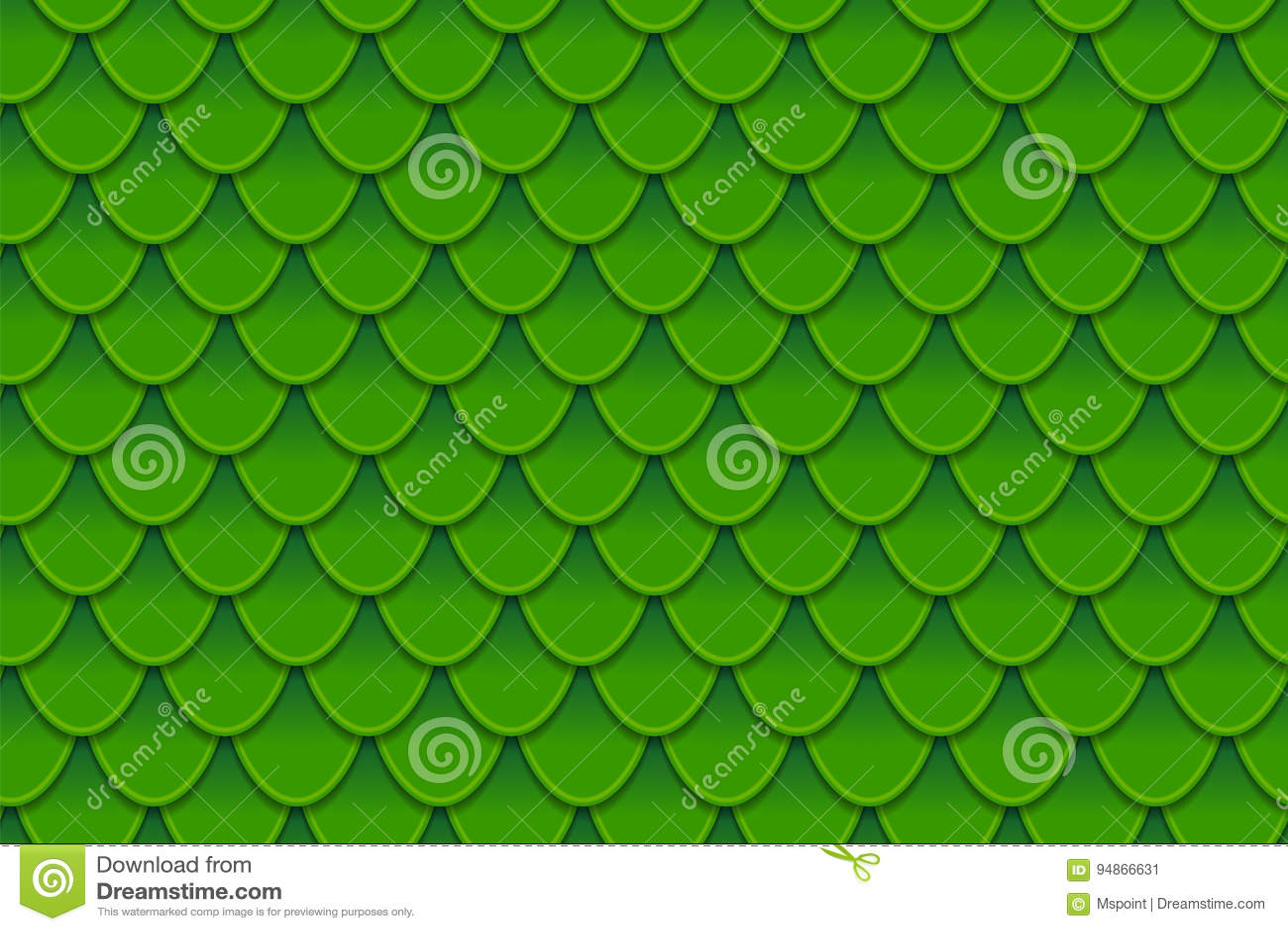 Modello senza cuciture delle squame verdi variopinte Squame, pelle del drago, carpa giapponese, pelle del dinosauro, brufoli, ret