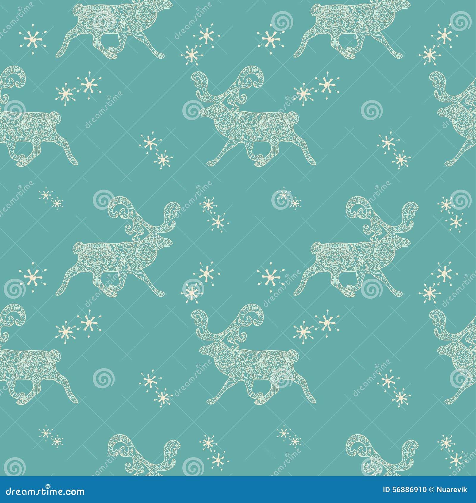 Modello senza cuciture di Natale con i cervi