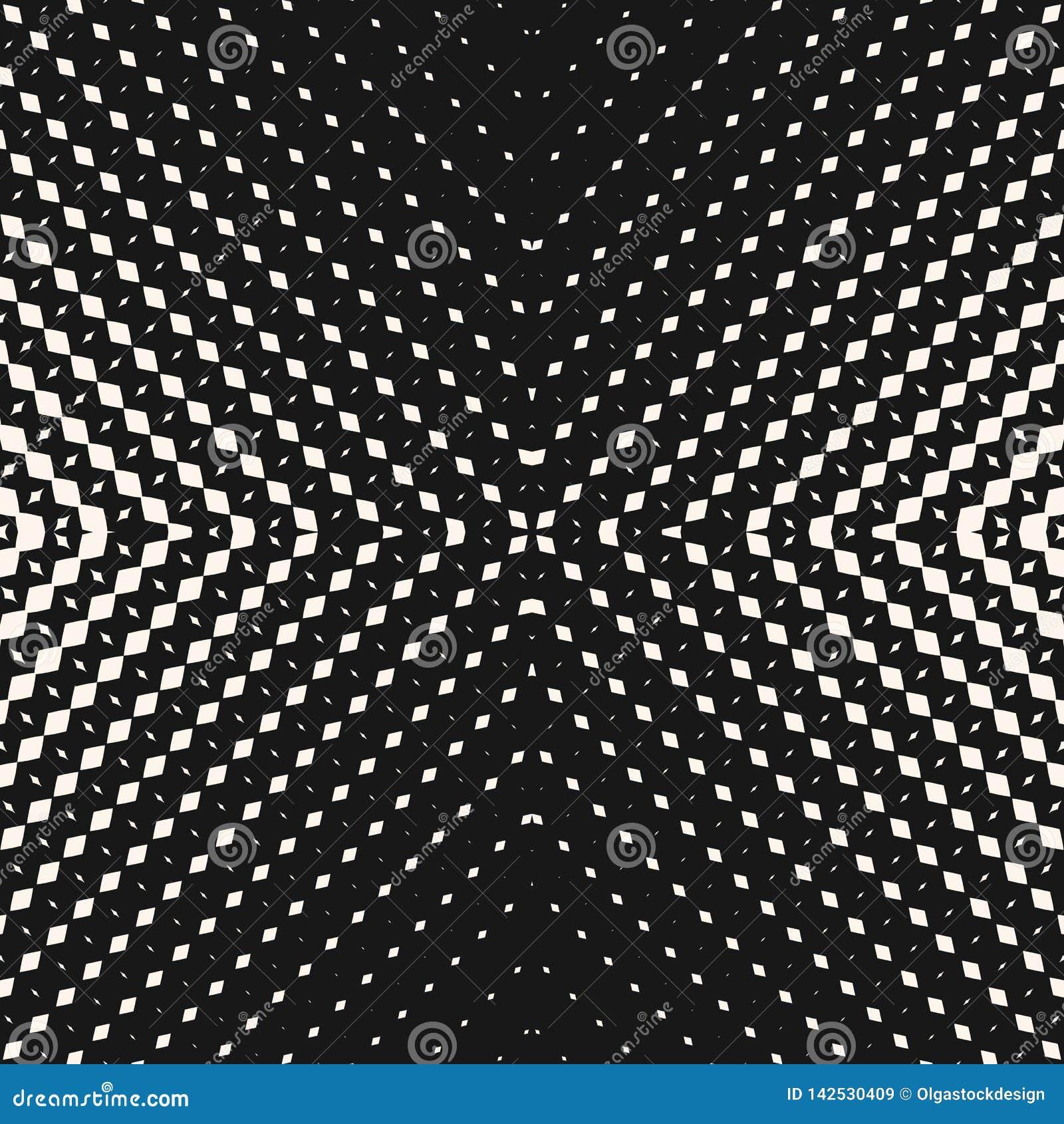 Modello senza cuciture di semitono radiale di vettore Priorit? bassa geometrica in bianco e nero