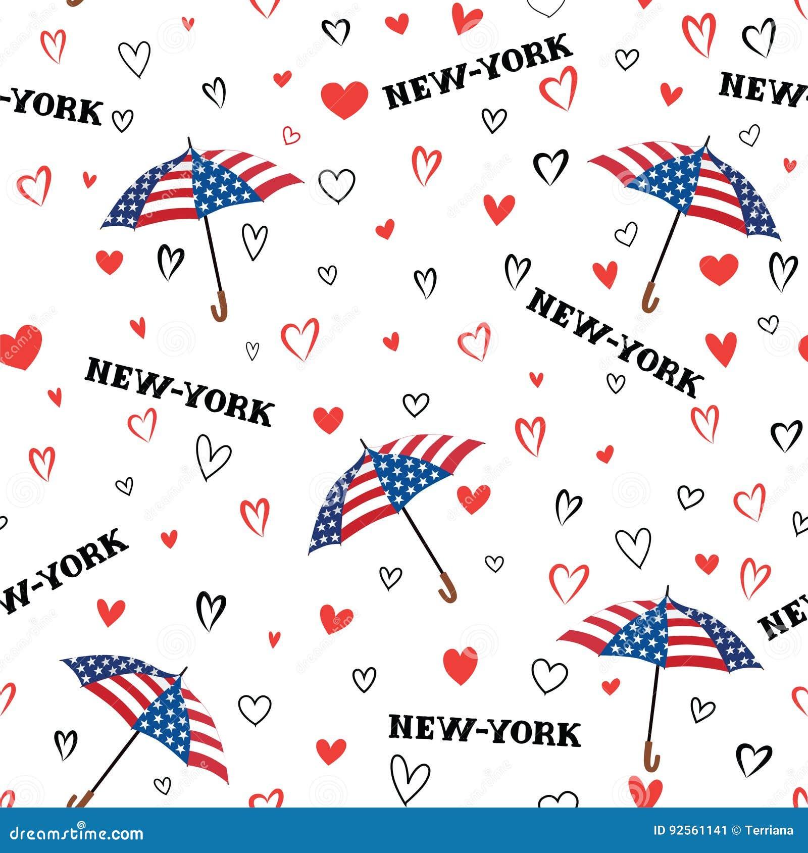 Modello senza cuciture di U.S.A. di viaggio Fondo di New York di amore sentasi