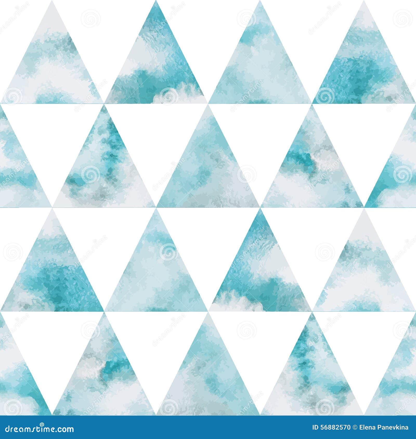 Modello senza cuciture di vettore dei triangoli del cielo dell acquerello