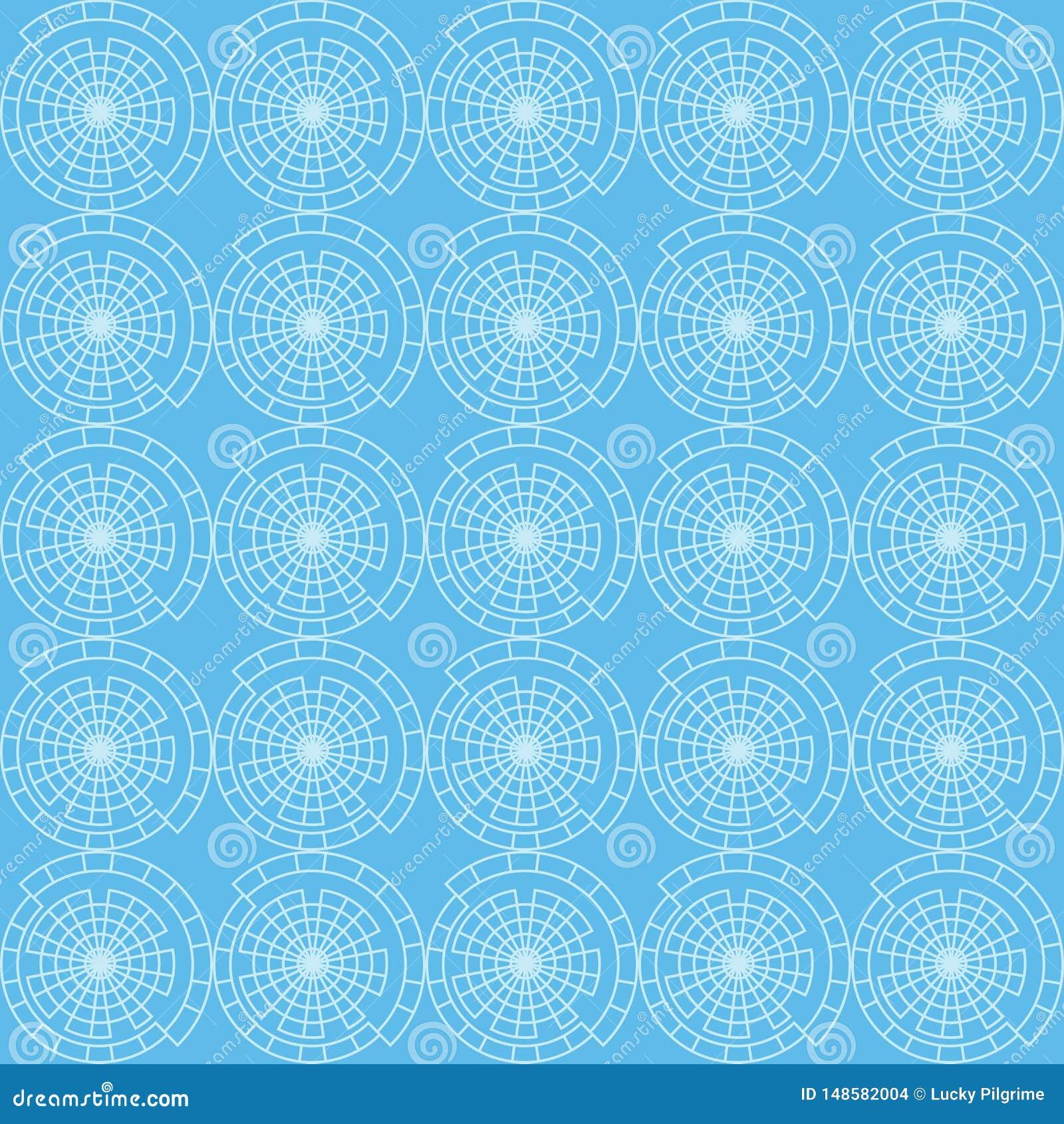 Modello senza cuciture di vettore del cerchio astratto