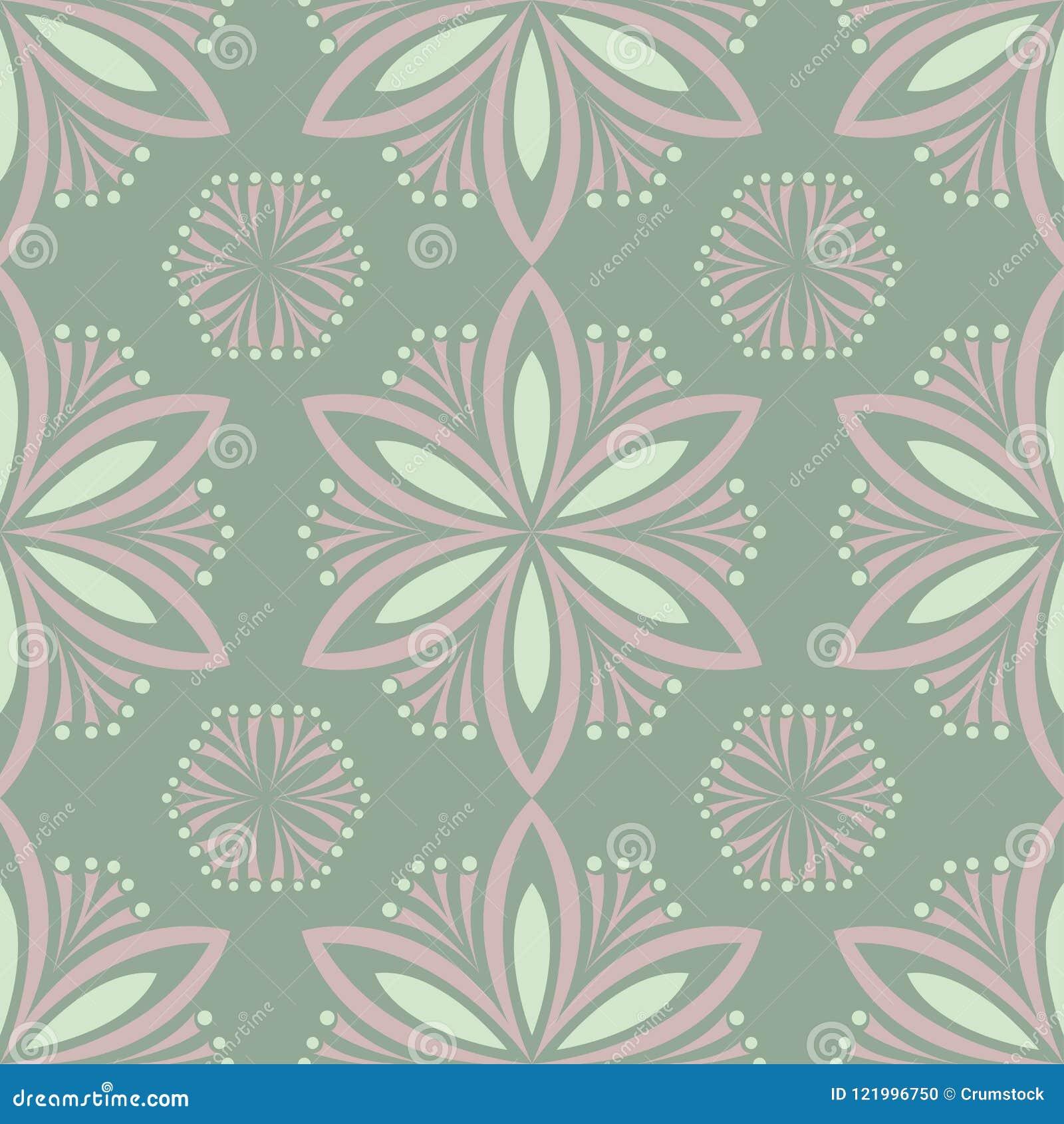 Modello senza cuciture floreale di verde verde oliva Fondo con le progettazioni del fiore