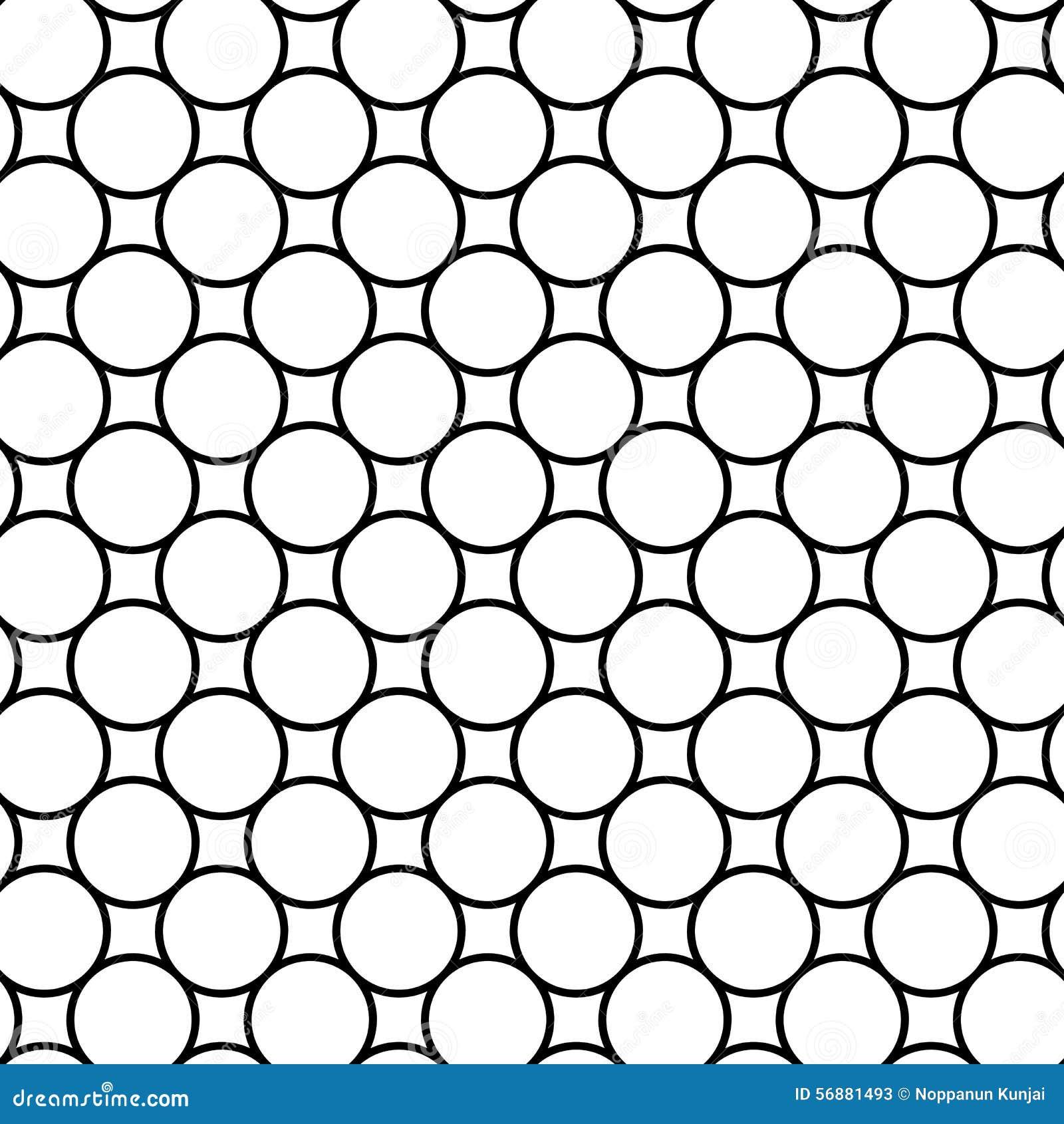 Modello senza cuciture geometrico in bianco e nero con la linea ed il cerchio,