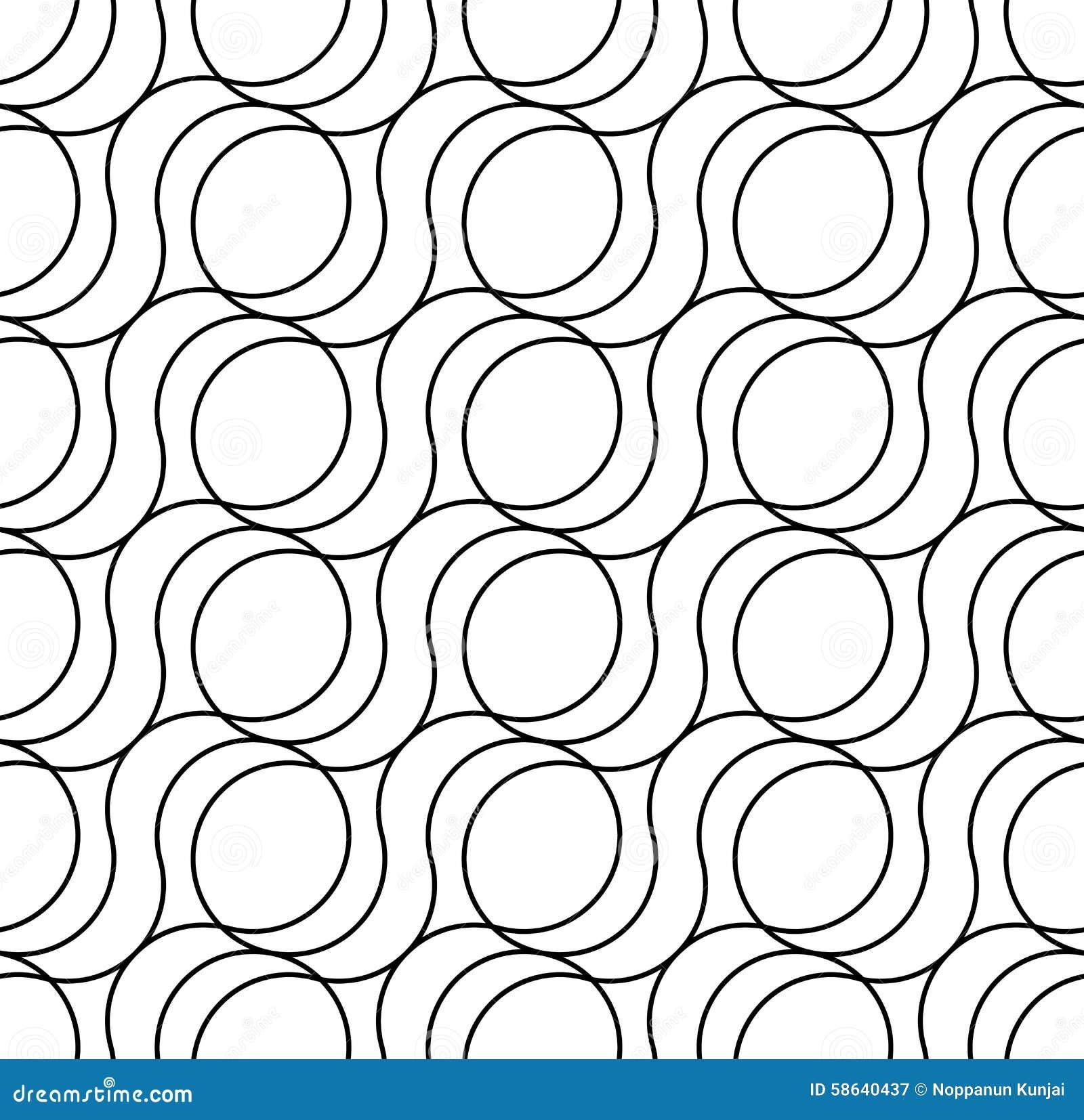 Modello senza cuciture geometrico in bianco e nero, fondo astratto