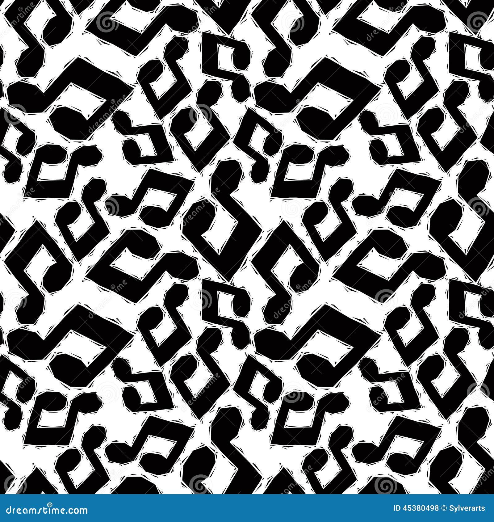 Modello senza cuciture nero delle note musicali in bianco - Papel de pared blanco y negro ...