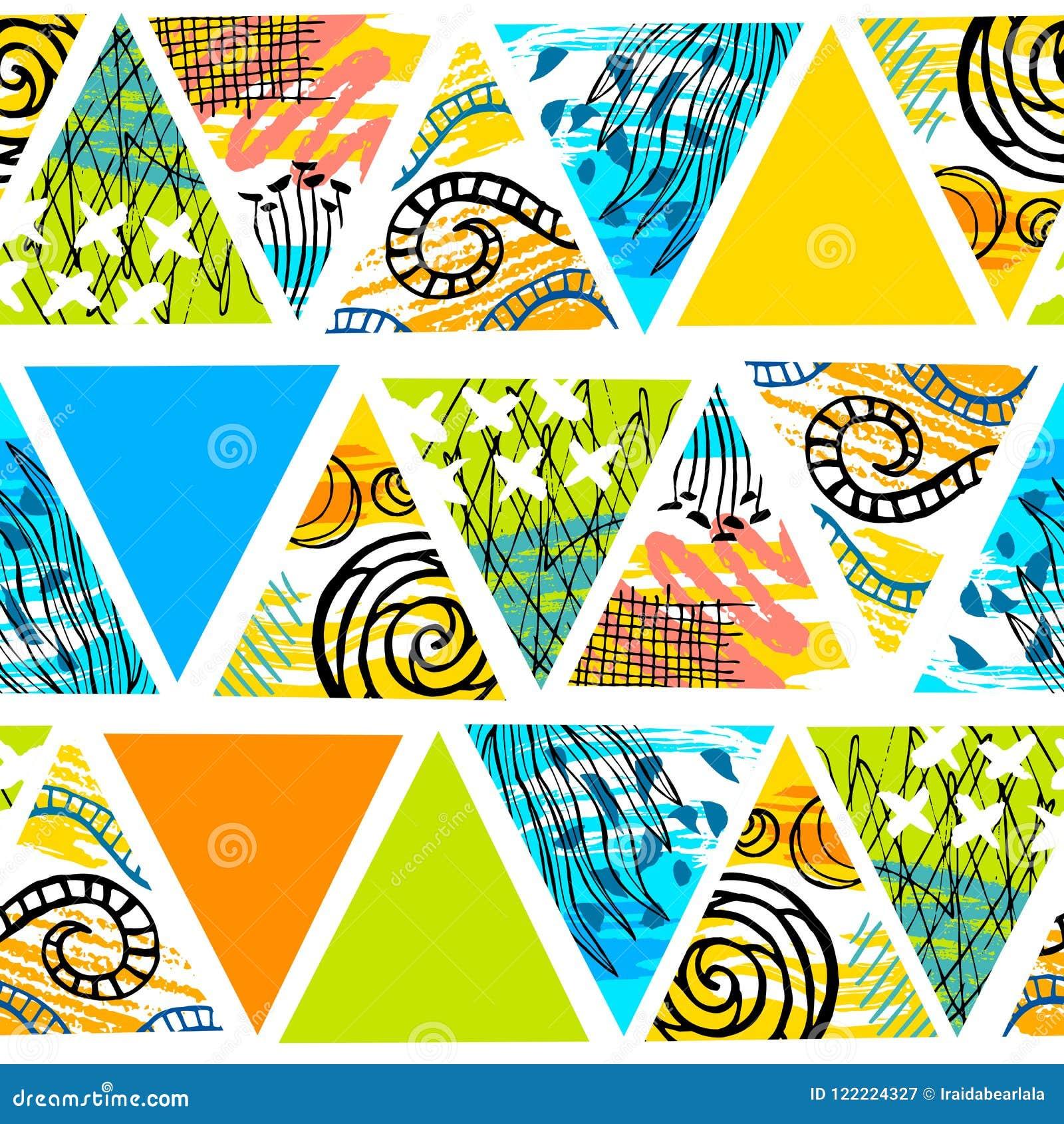 Modello senza cuciture tropicale del batik africano Decorat astratto di estate