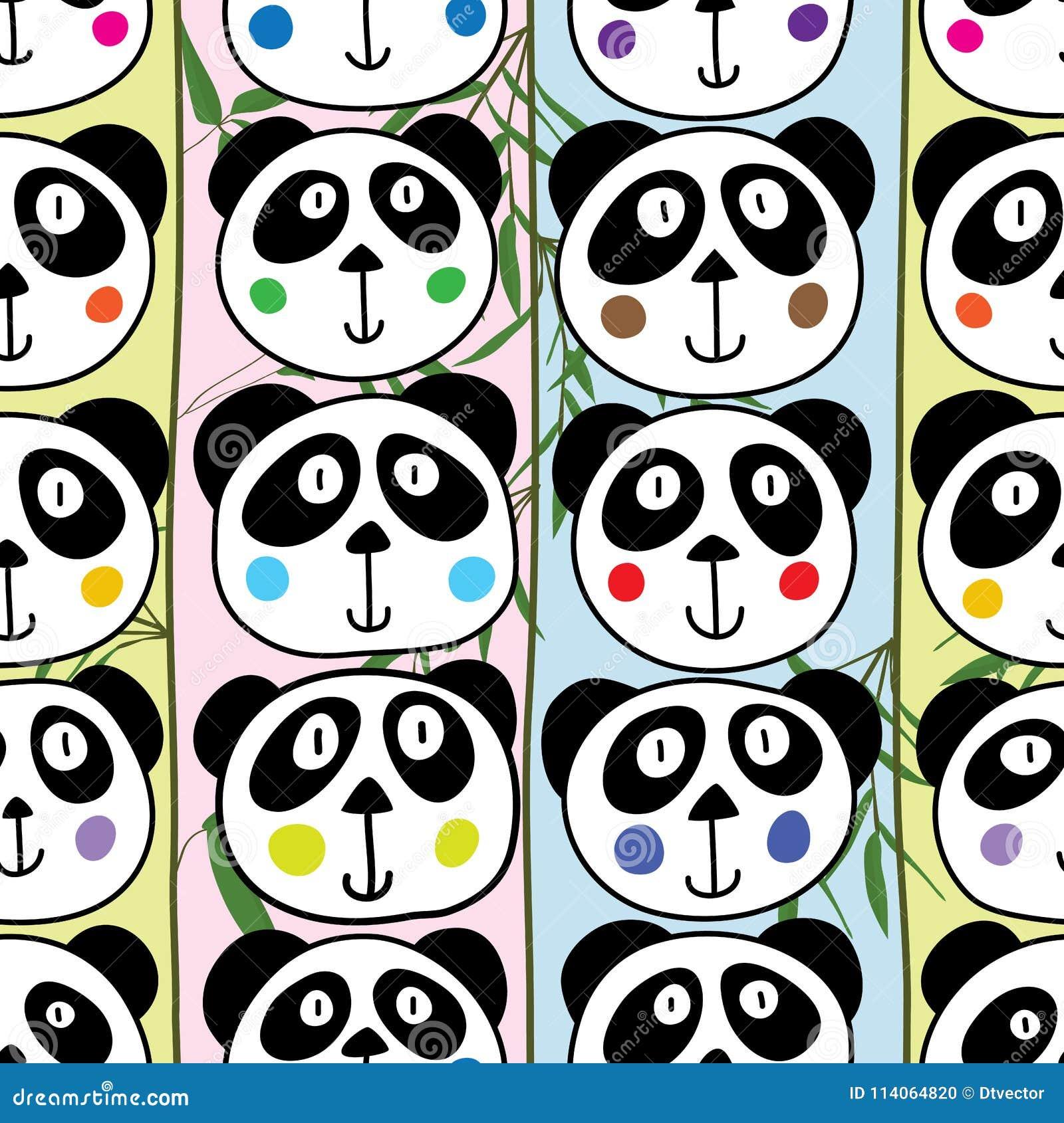 Modello senza cuciture verticale capo del panda