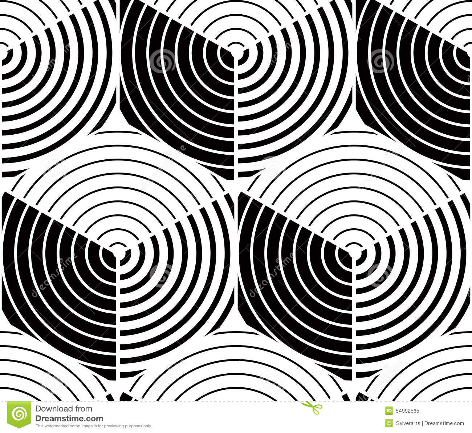 Modello simmetrico monocromatico senza fine, progettazione grafica geometrico