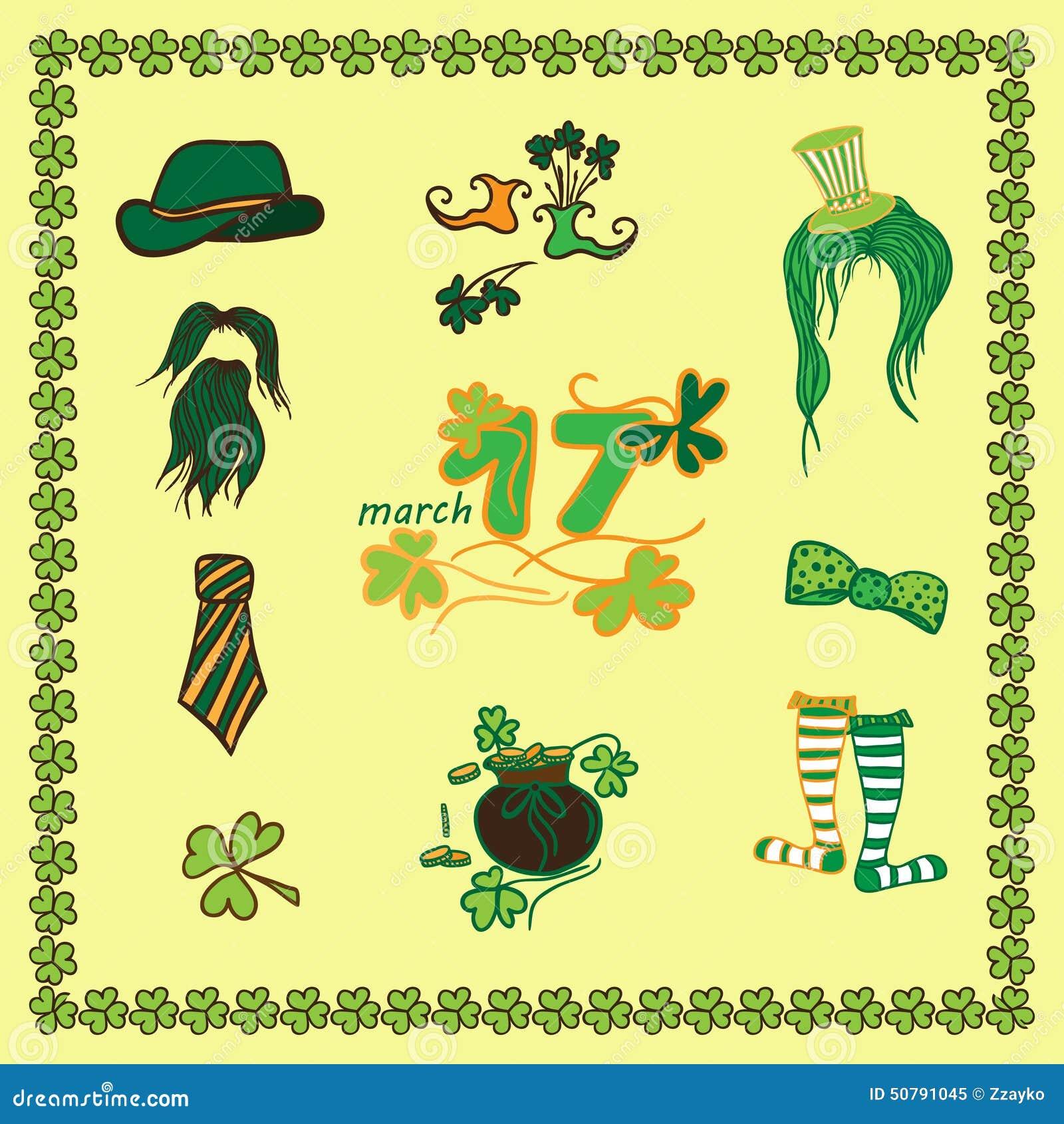 Modello stabilito di giorno di st patrick dell 39 irlandese - Immagini st patrick a colori ...