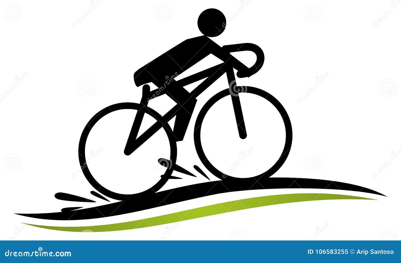 Modello Stilizzato Della Corsa Della Bici Illustrazione Vettoriale