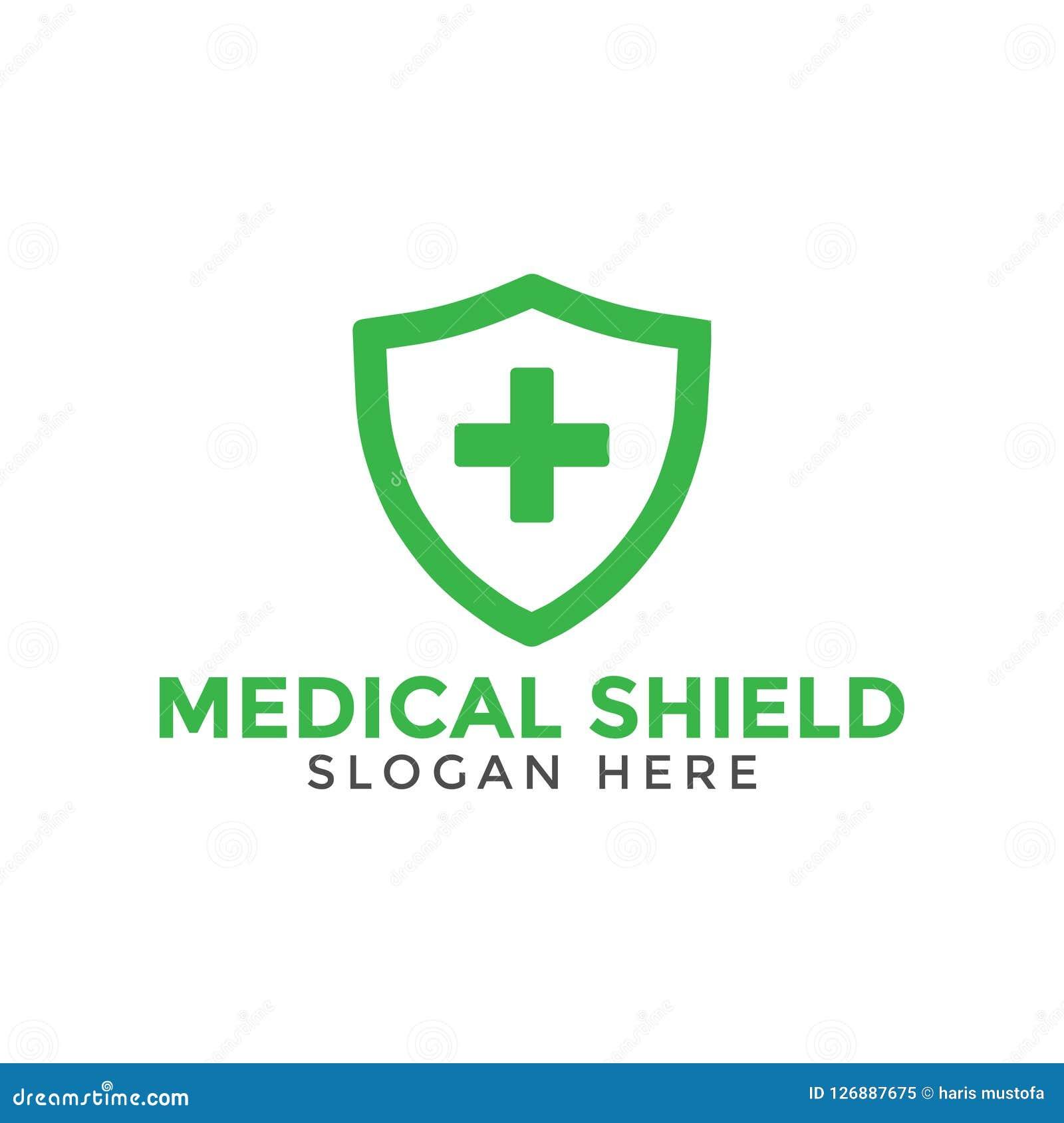 Modello trasversale medico verde di progettazione dell icona di logo dello schermo