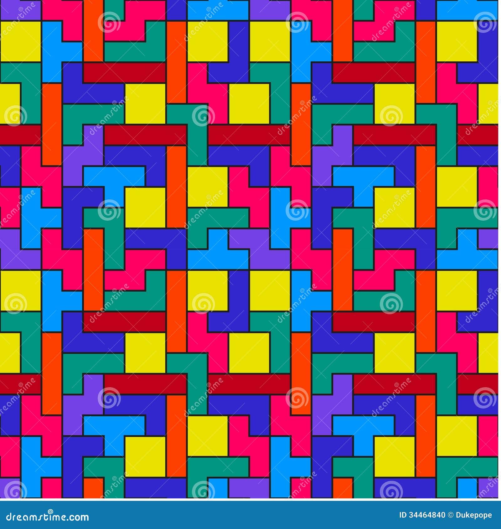 Modello variopinto di Tetris