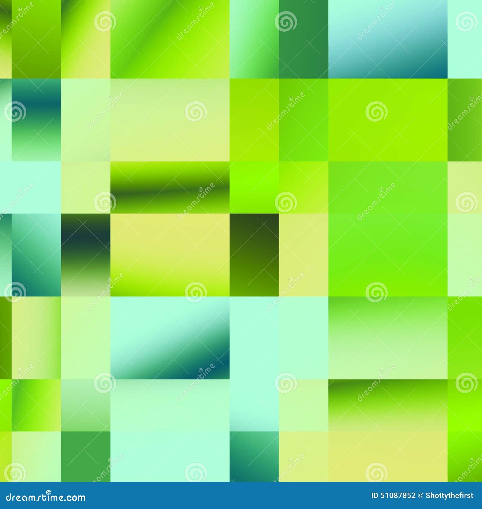 Modello verde del plaid Geometrico astratto Illustrazione colorata del mosaico Elementi poligonali di progettazione Forme differe