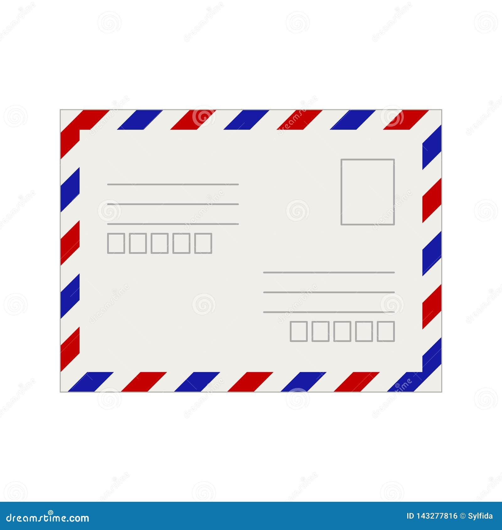 Modello vuoto della cartolina Illustrazione di vettore