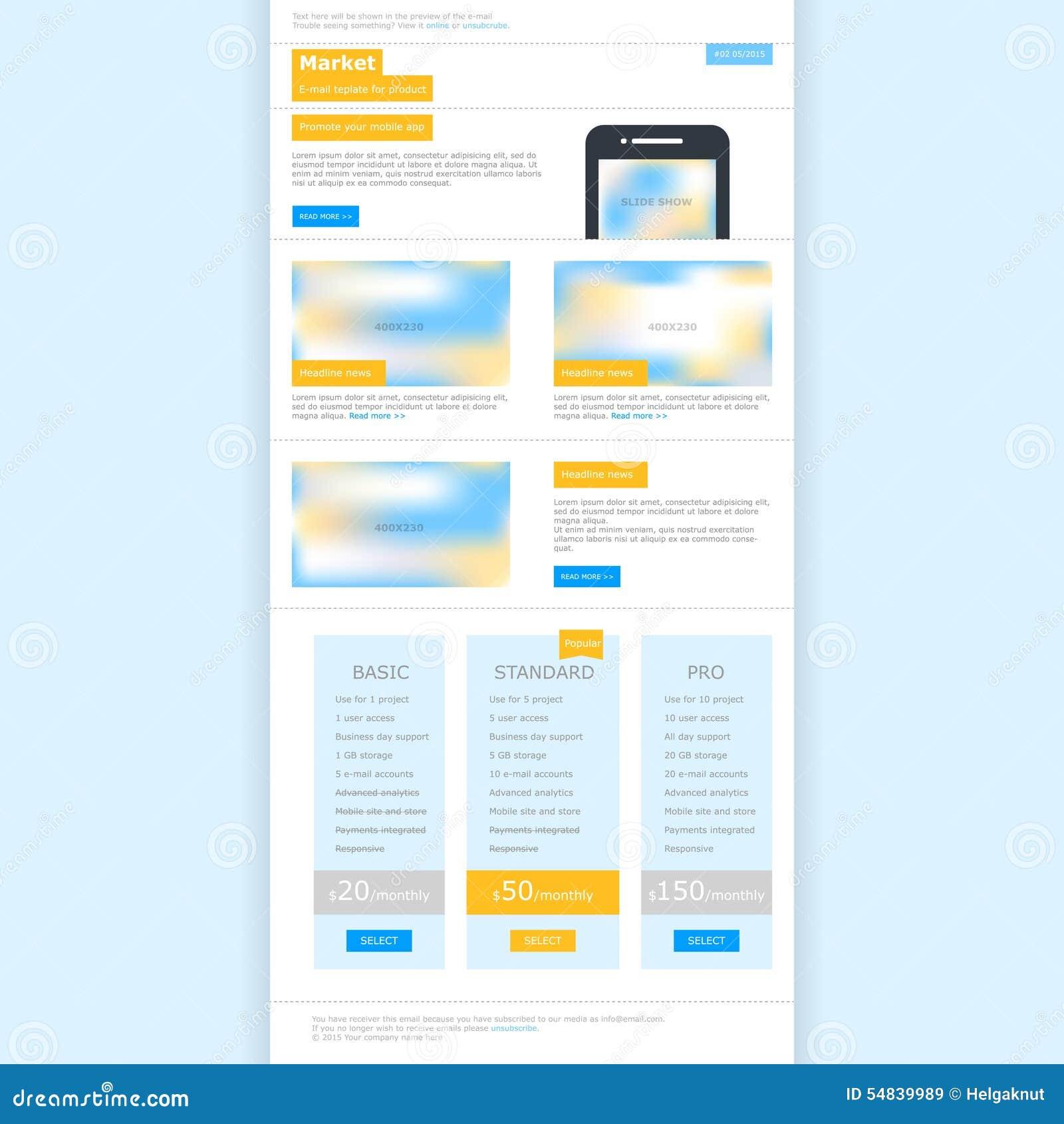 Modello Web per il email