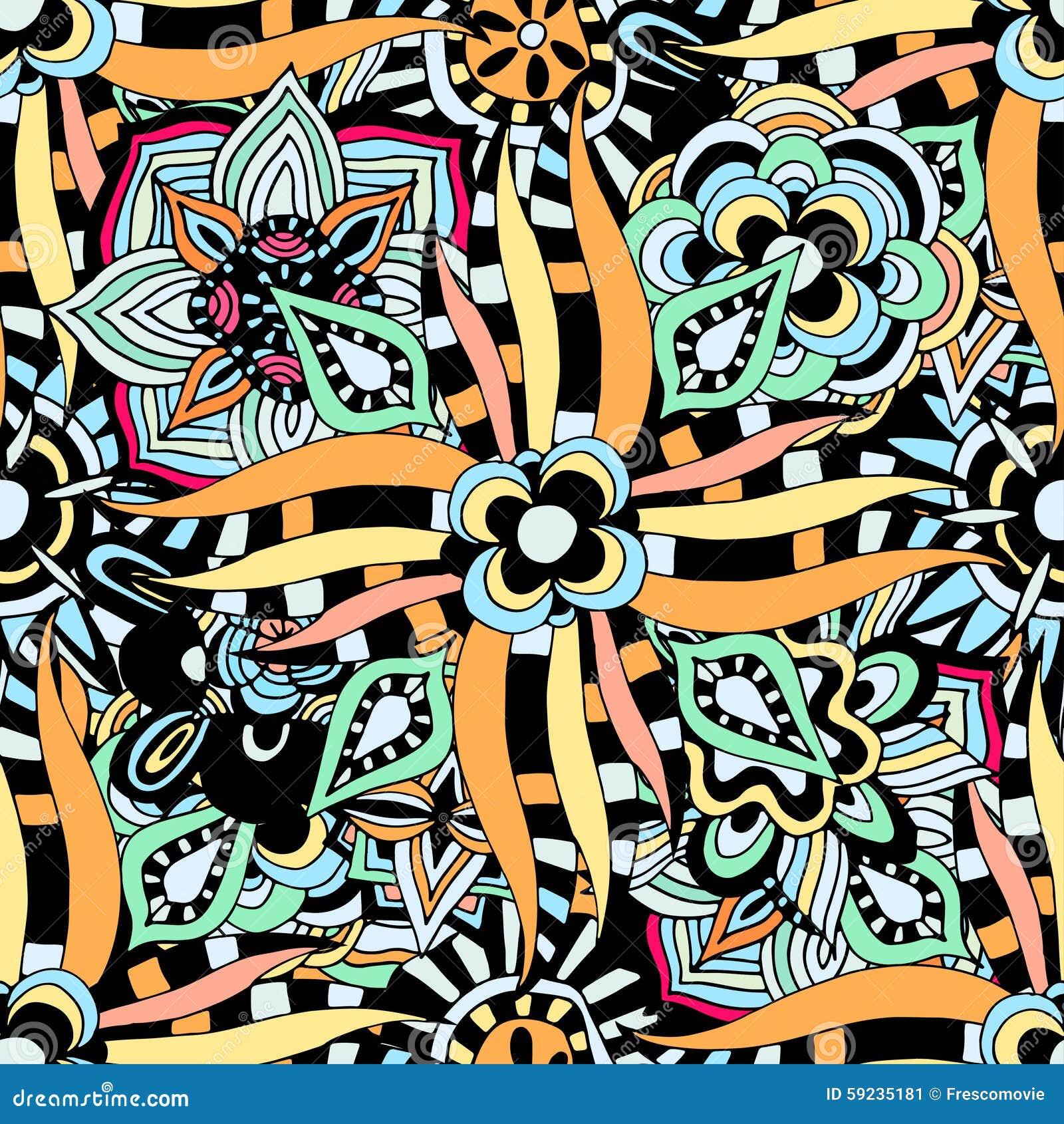 Download Modelo étnico Inconsútil Del Vector Ilustración del Vector - Ilustración de árabe, decoración: 59235181