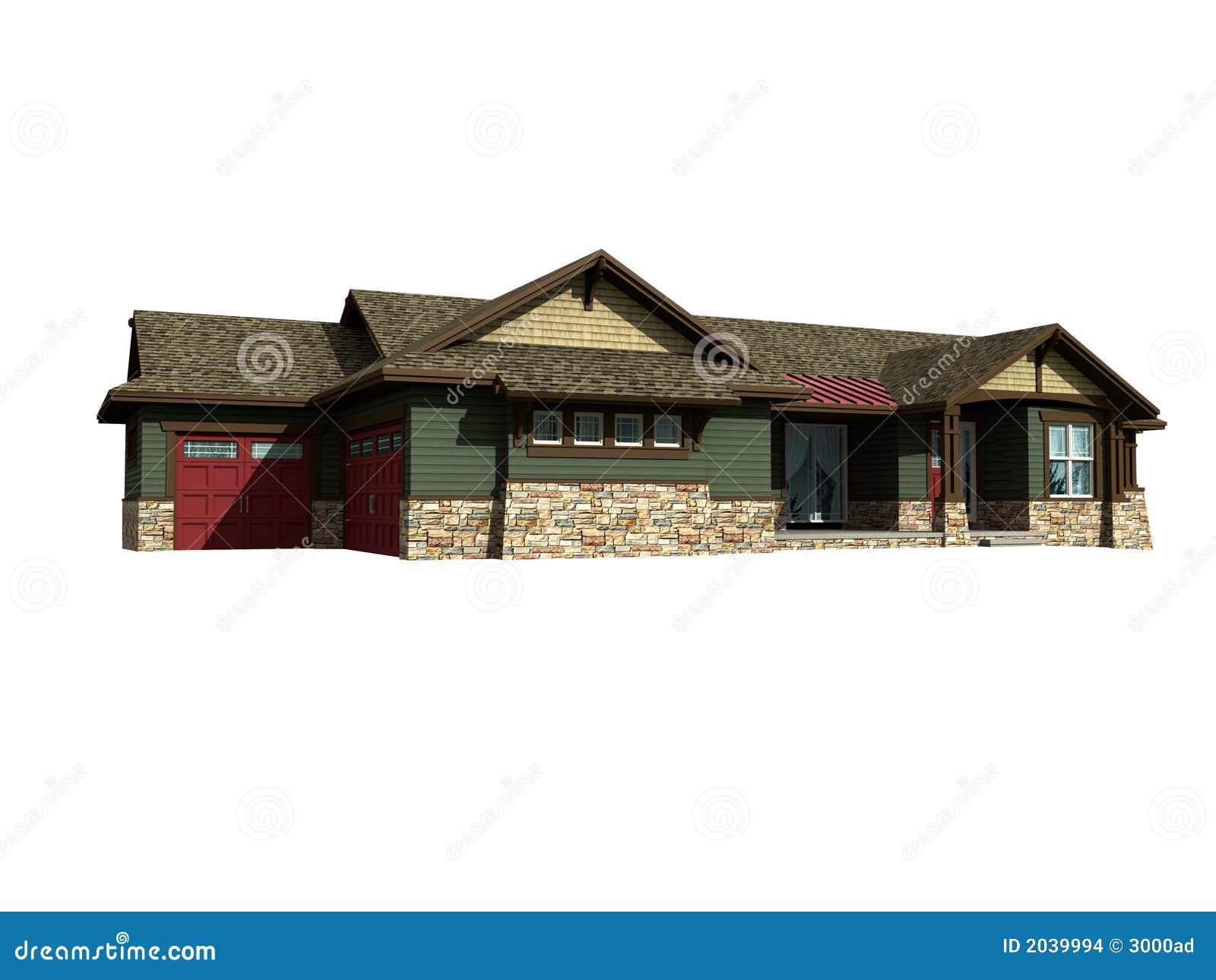 Modelo 3d de la casa de rancho imagenes de archivo for Modelo de casa en 3d