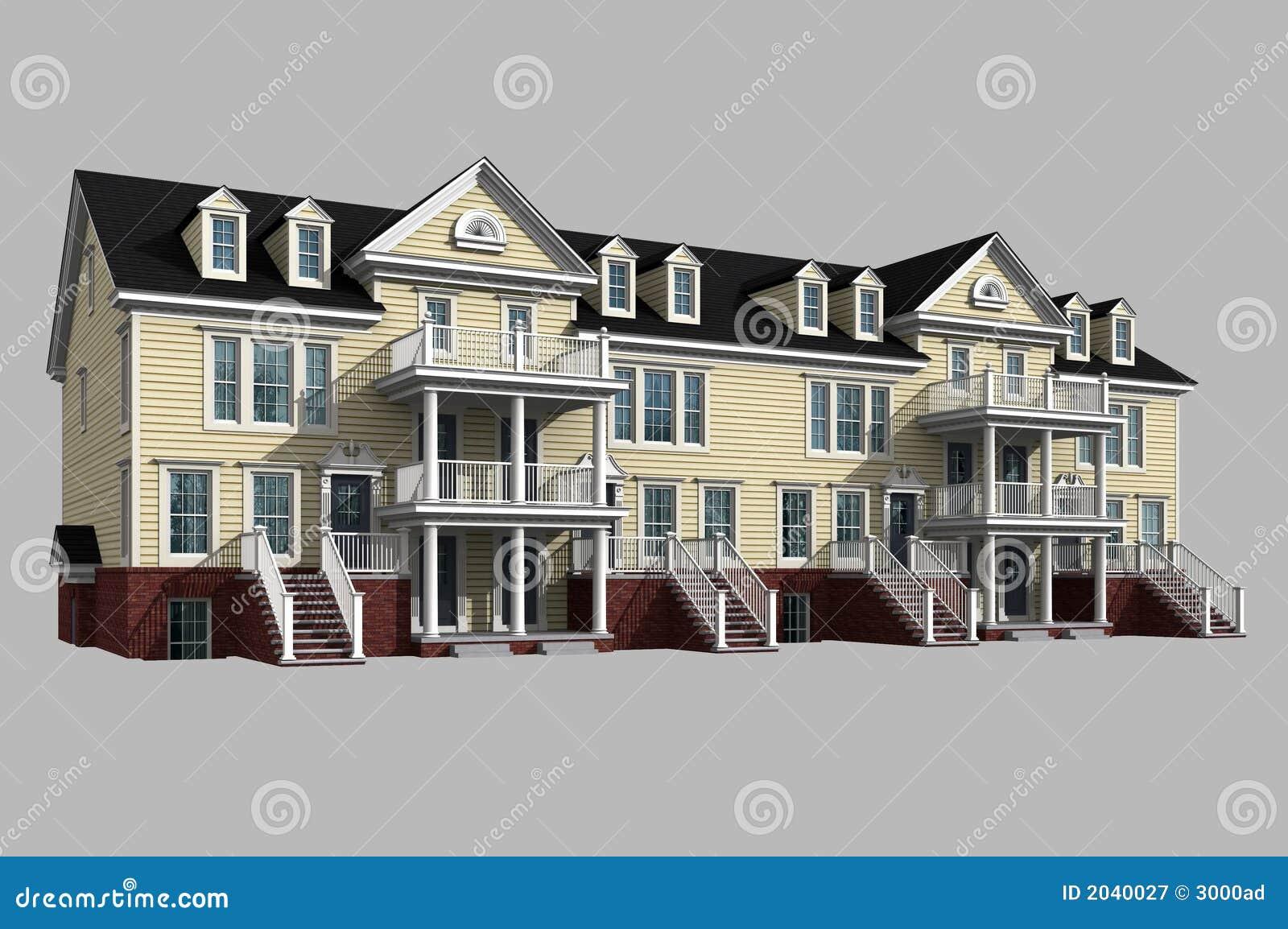 Modelo 3d del condominio