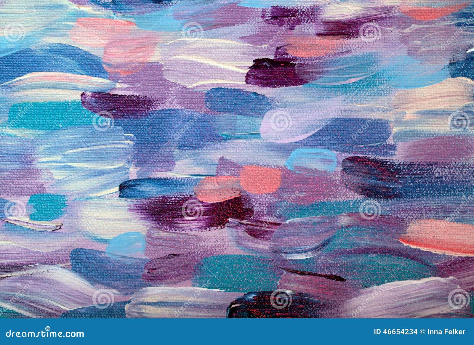 Modelo abstracto colorido de la pintura al óleo