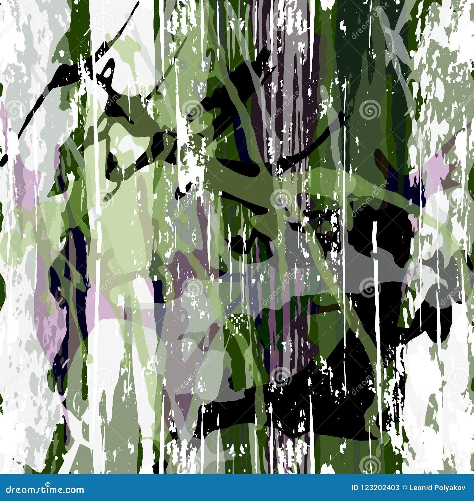 Modelo abstracto del color en el ejemplo del vector de la calidad del estilo de la pintada para su diseño